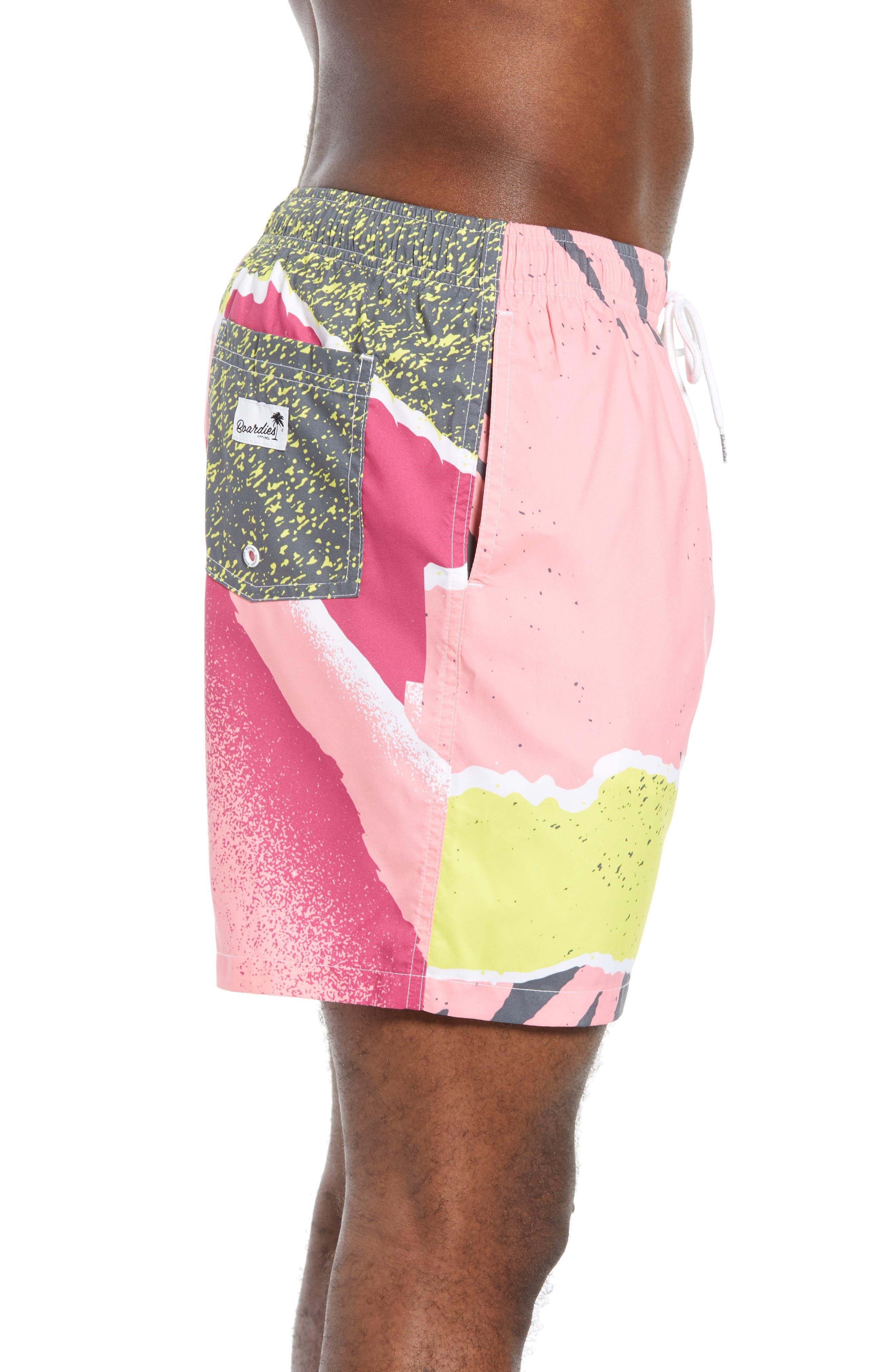 Andre Retro Board Shorts,                             Alternate thumbnail 3, color,                             PINK