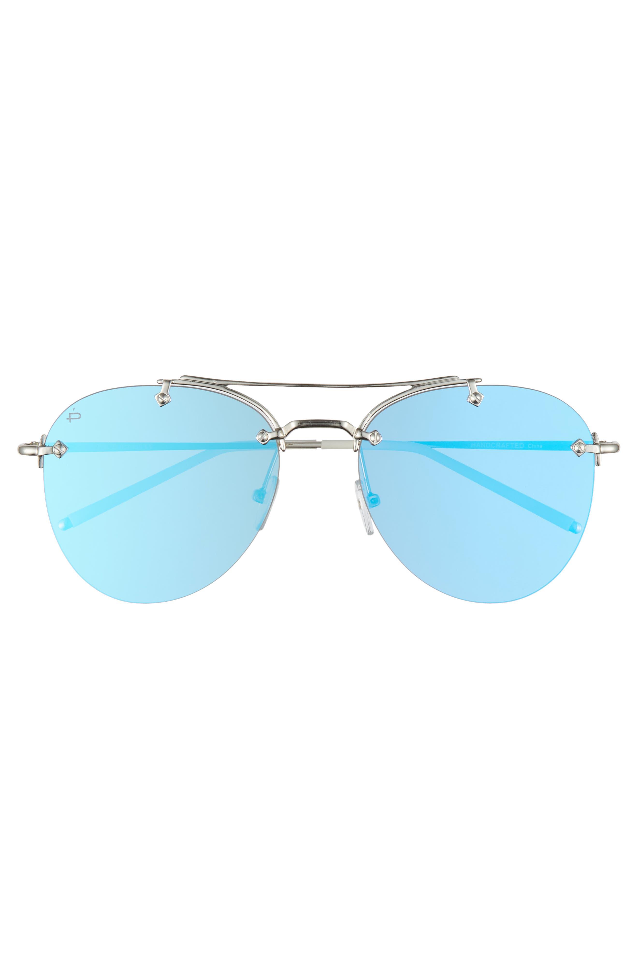 Privé Revaux The Dutchess 57mm Aviator Sunglasses,                             Alternate thumbnail 3, color,                             040