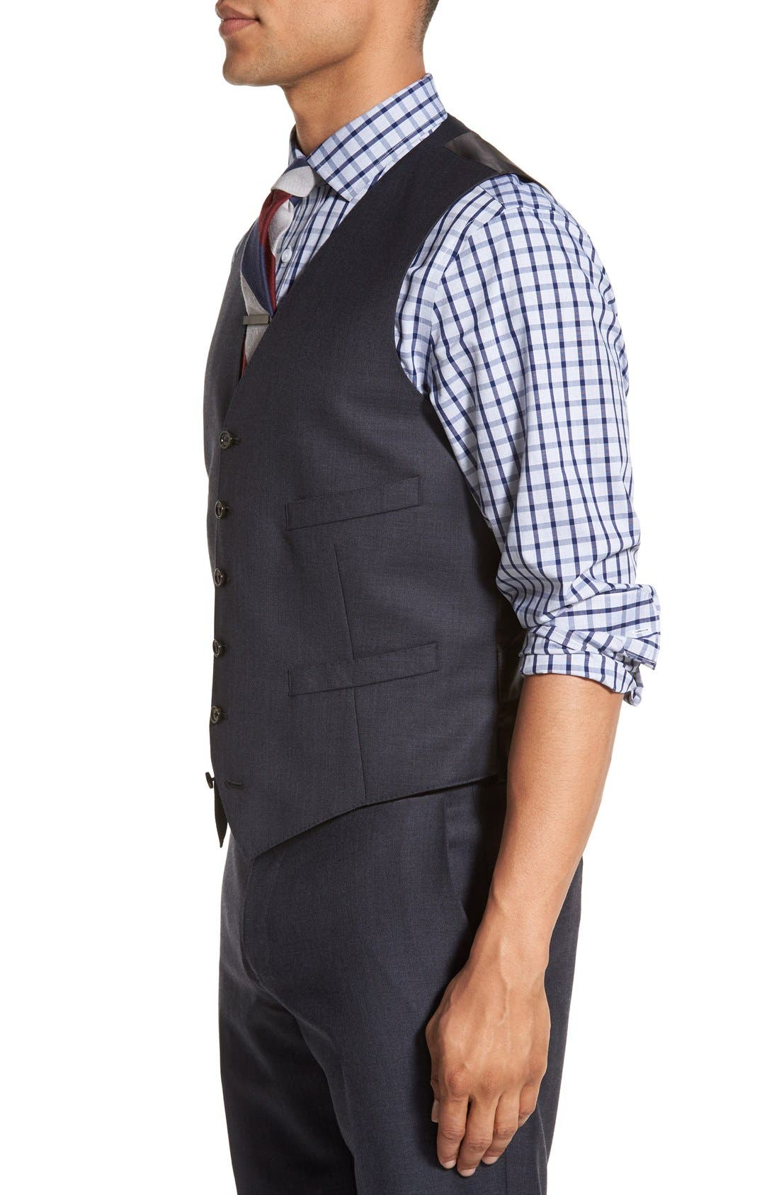 Ludlow Trim Fit Solid Wool Vest,                             Alternate thumbnail 11, color,                             410
