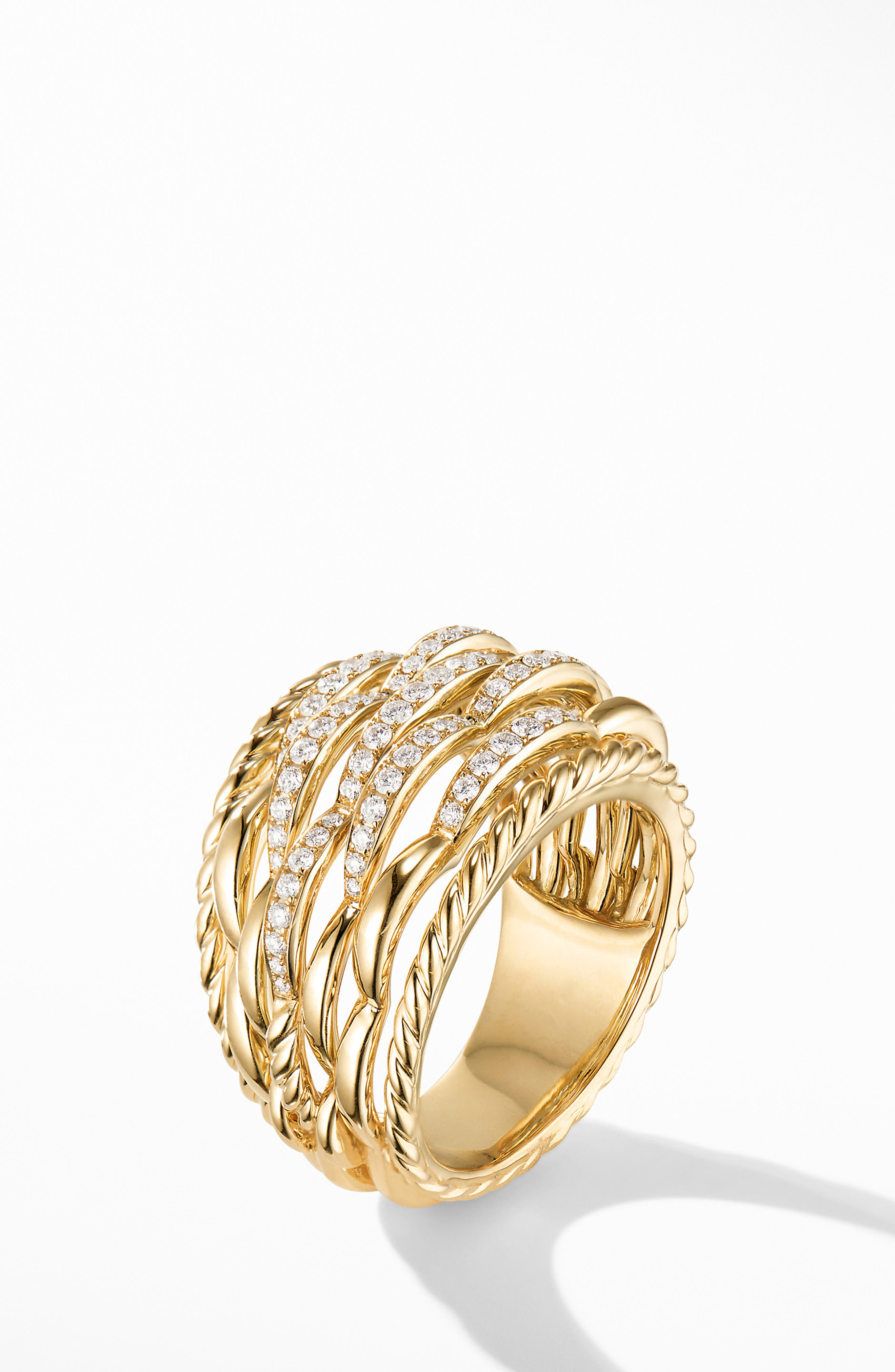 Tides Dome Ring with Diamonds,                             Alternate thumbnail 2, color,                             GOLD/ DIAMOND