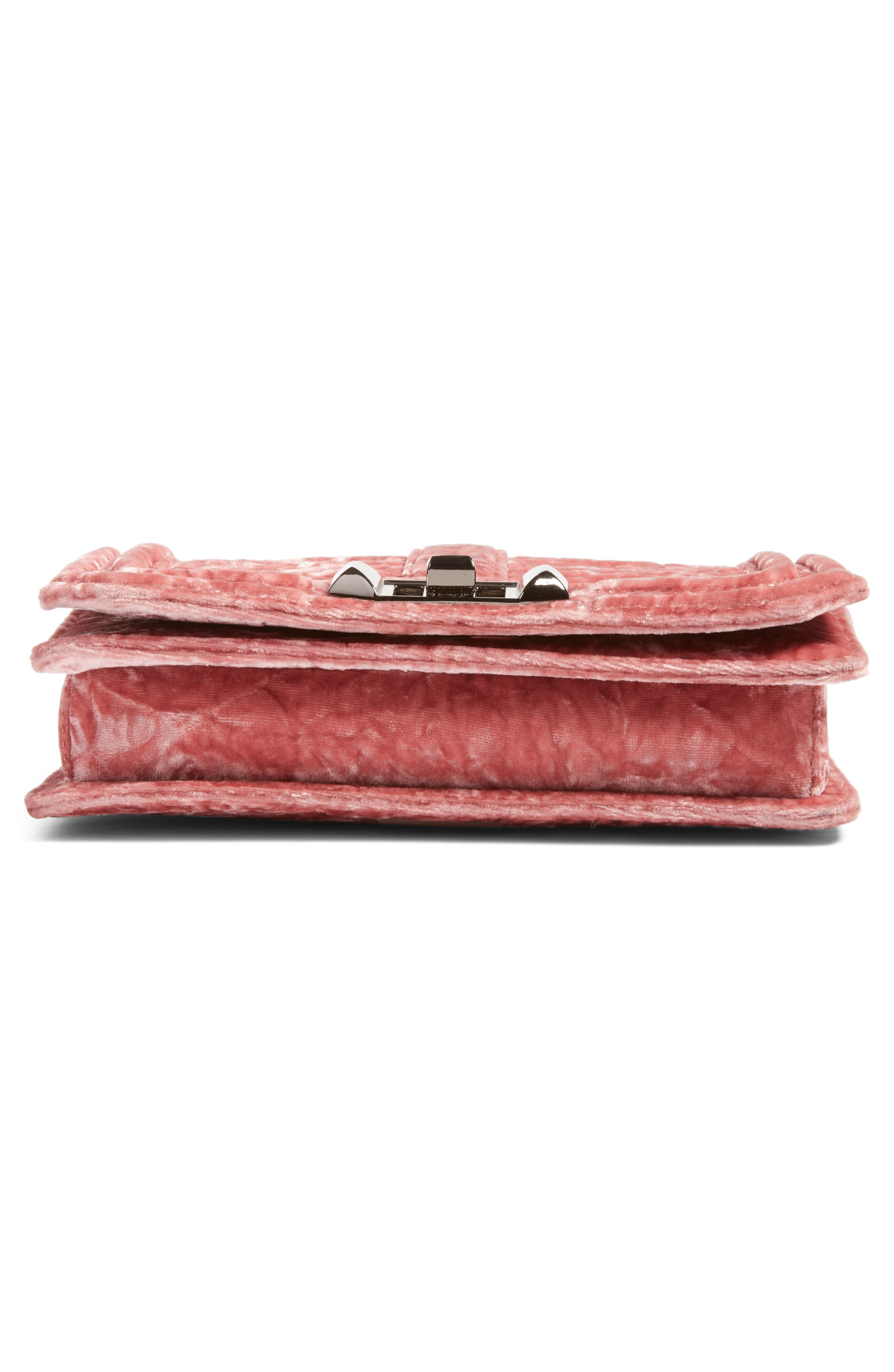 Small Love Velvet Crossbody Bag,                             Alternate thumbnail 6, color,                             680