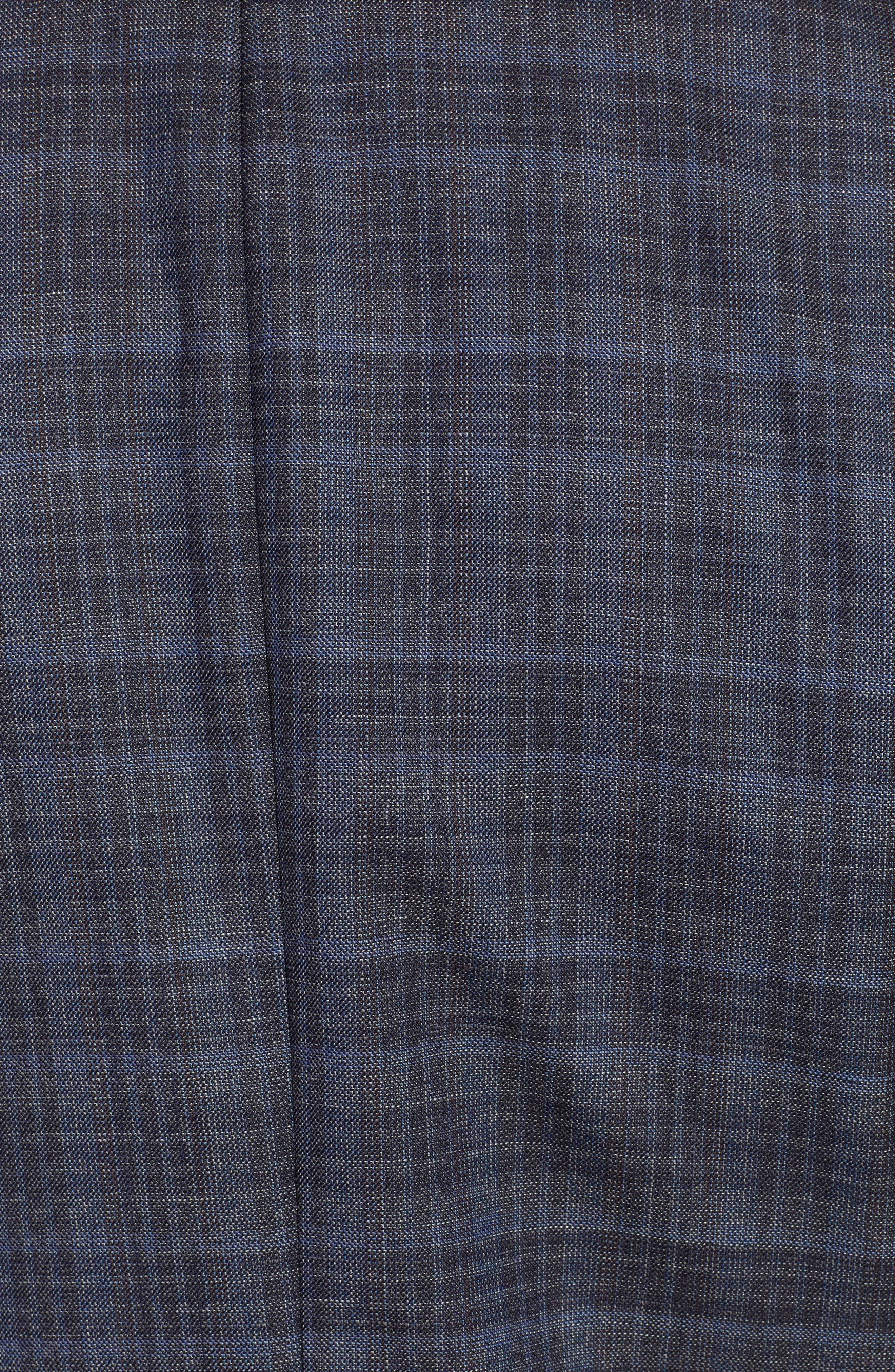 Slim Fit Unconstructed Plaid Sport Coat,                             Alternate thumbnail 6, color,                             GREY PLAID