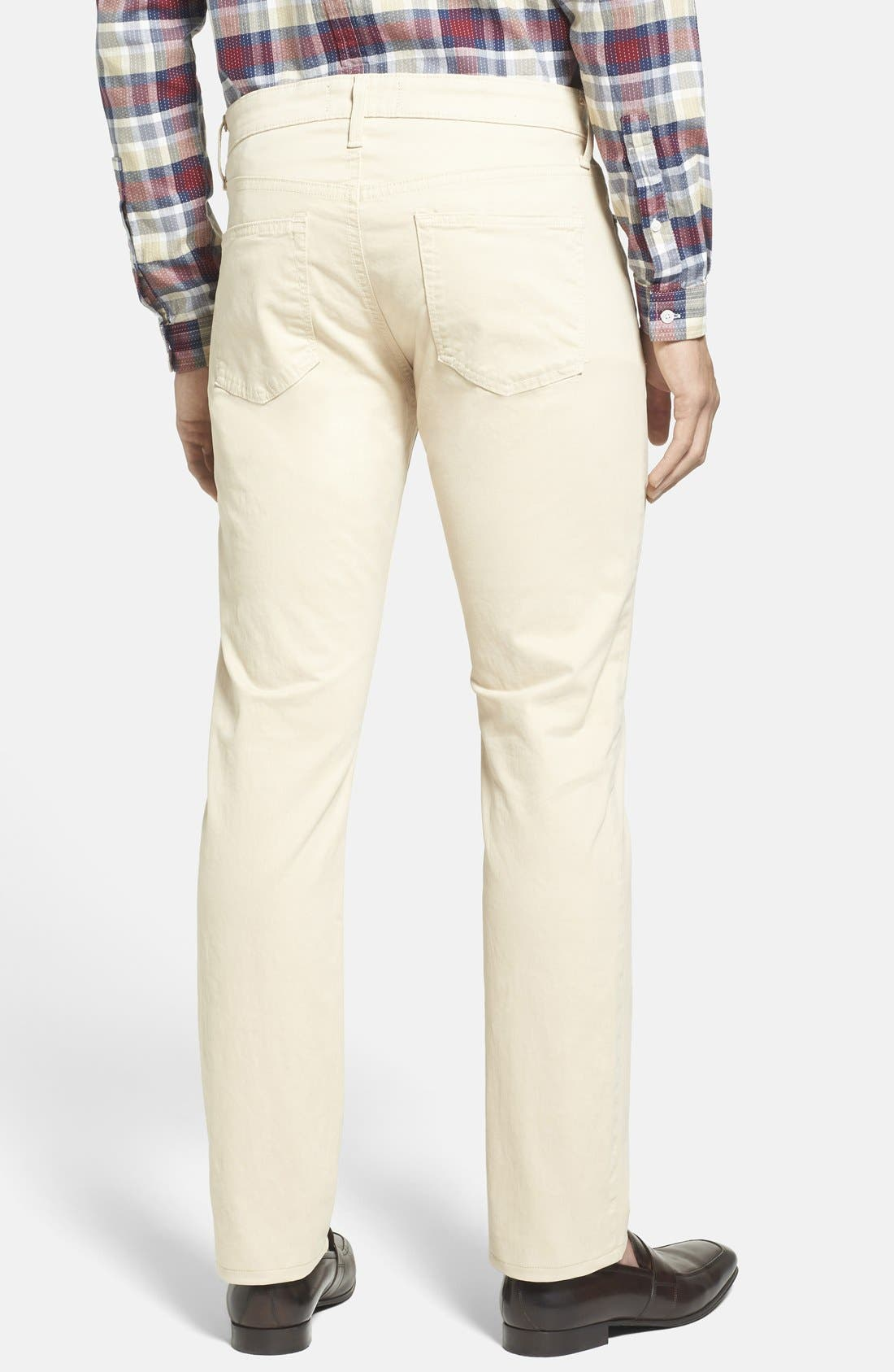'Kane' Slim Fit Cotton Twill Pants,                             Alternate thumbnail 76, color,