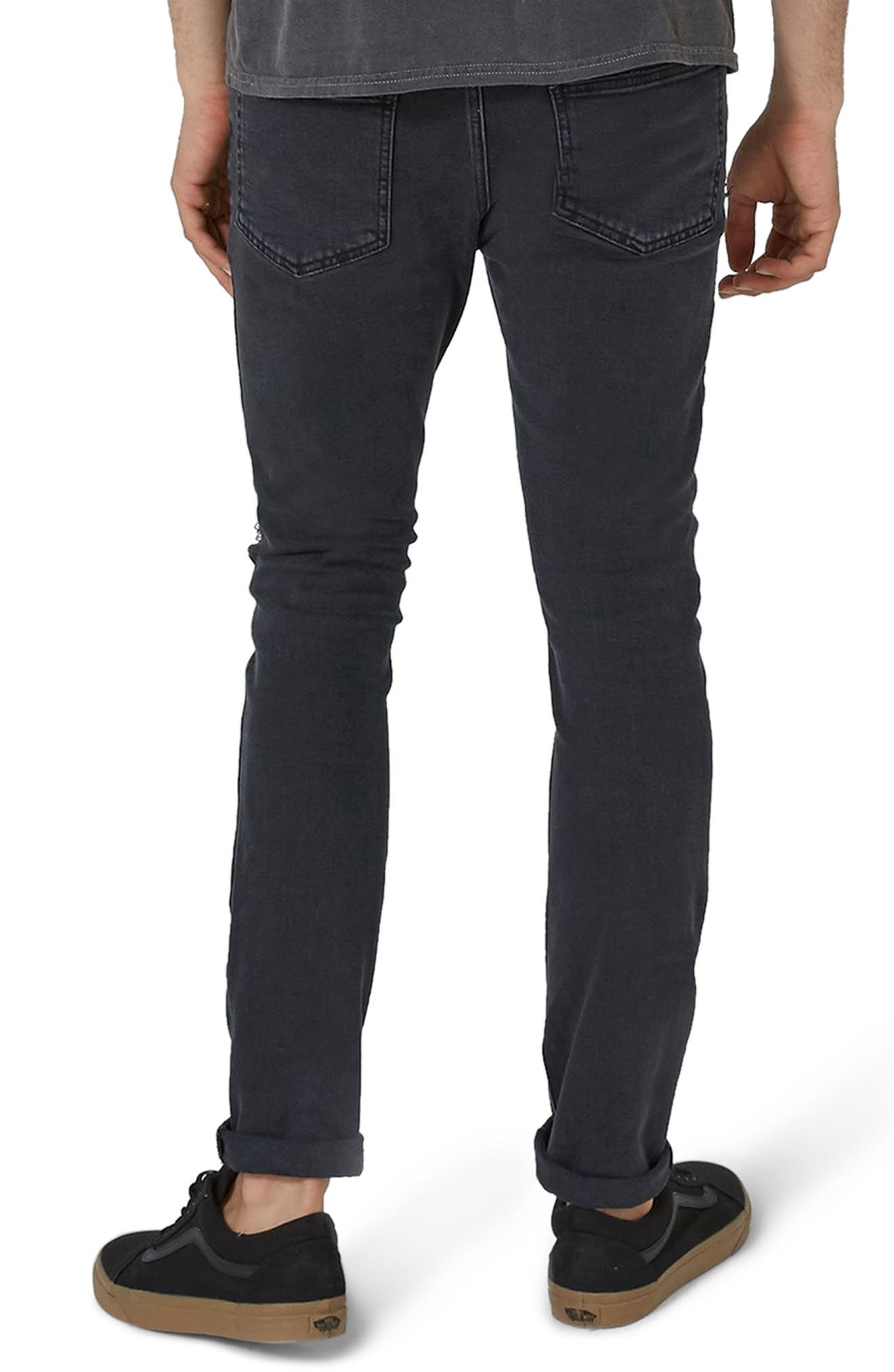 Camo Patch Skinny Jeans,                             Alternate thumbnail 2, color,                             001