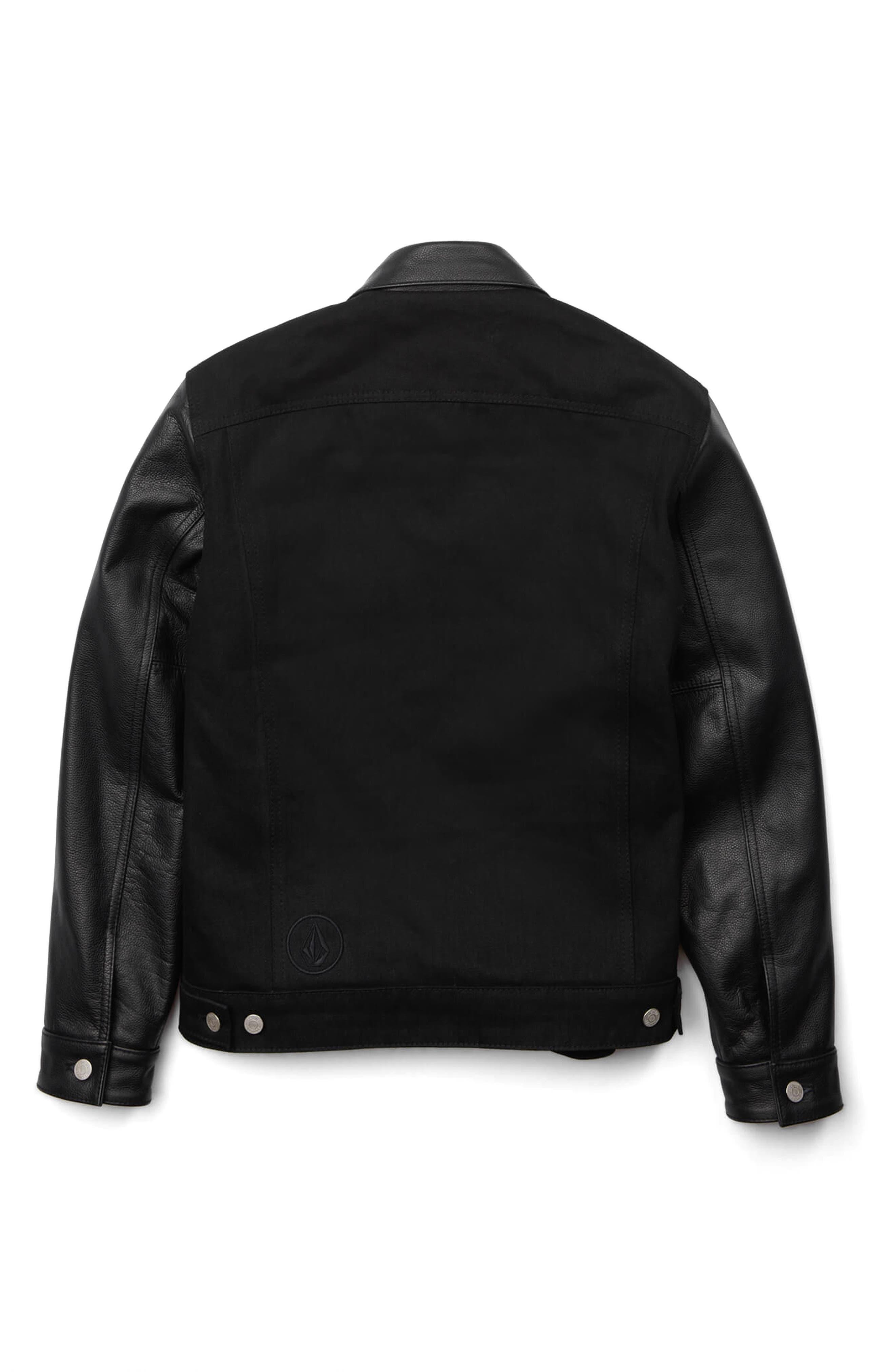 x Schott Denim Jacket,                             Alternate thumbnail 5, color,                             001