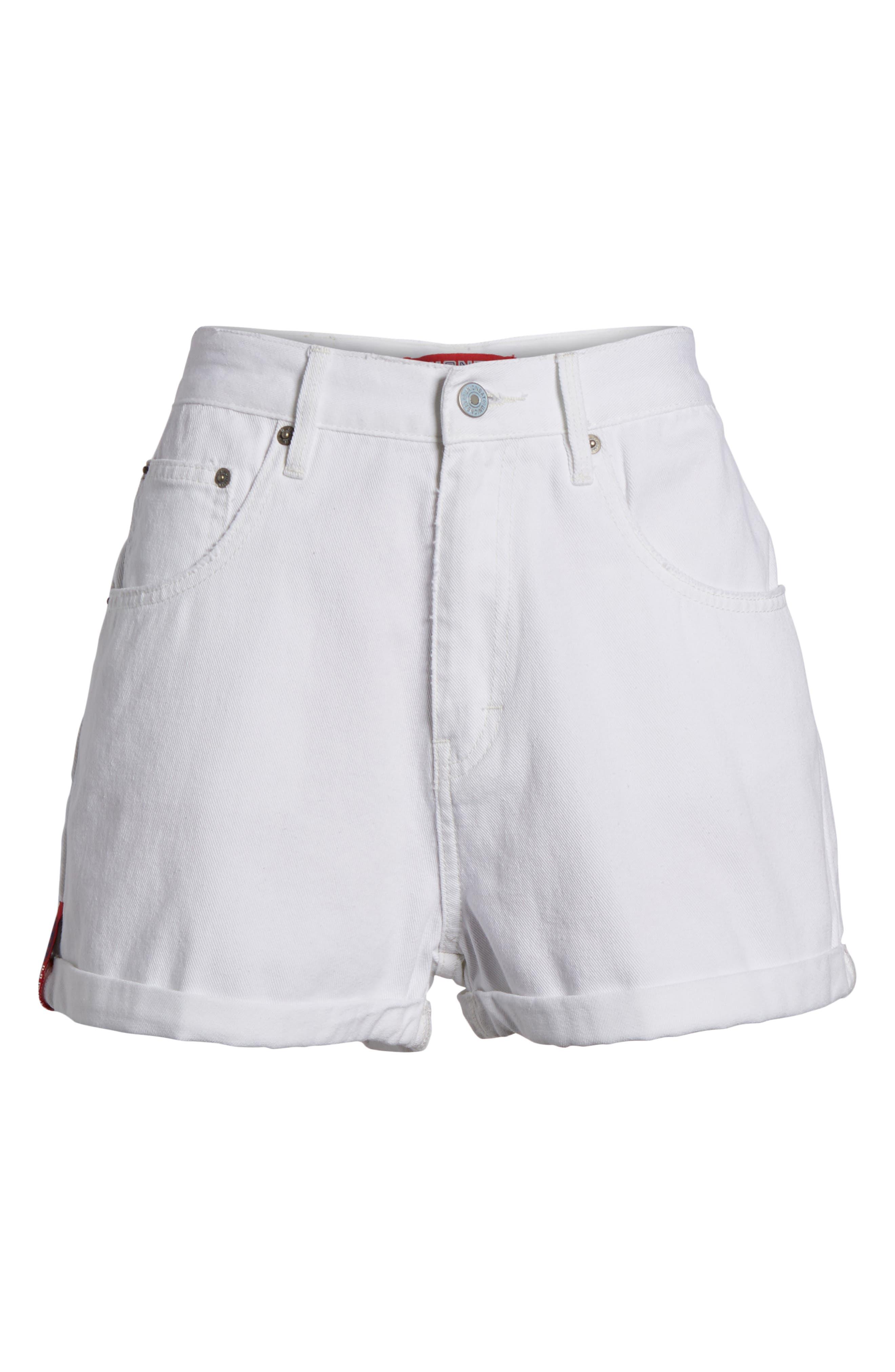 Unionbay UB Tab Denim Shorts,                             Alternate thumbnail 6, color,                             100