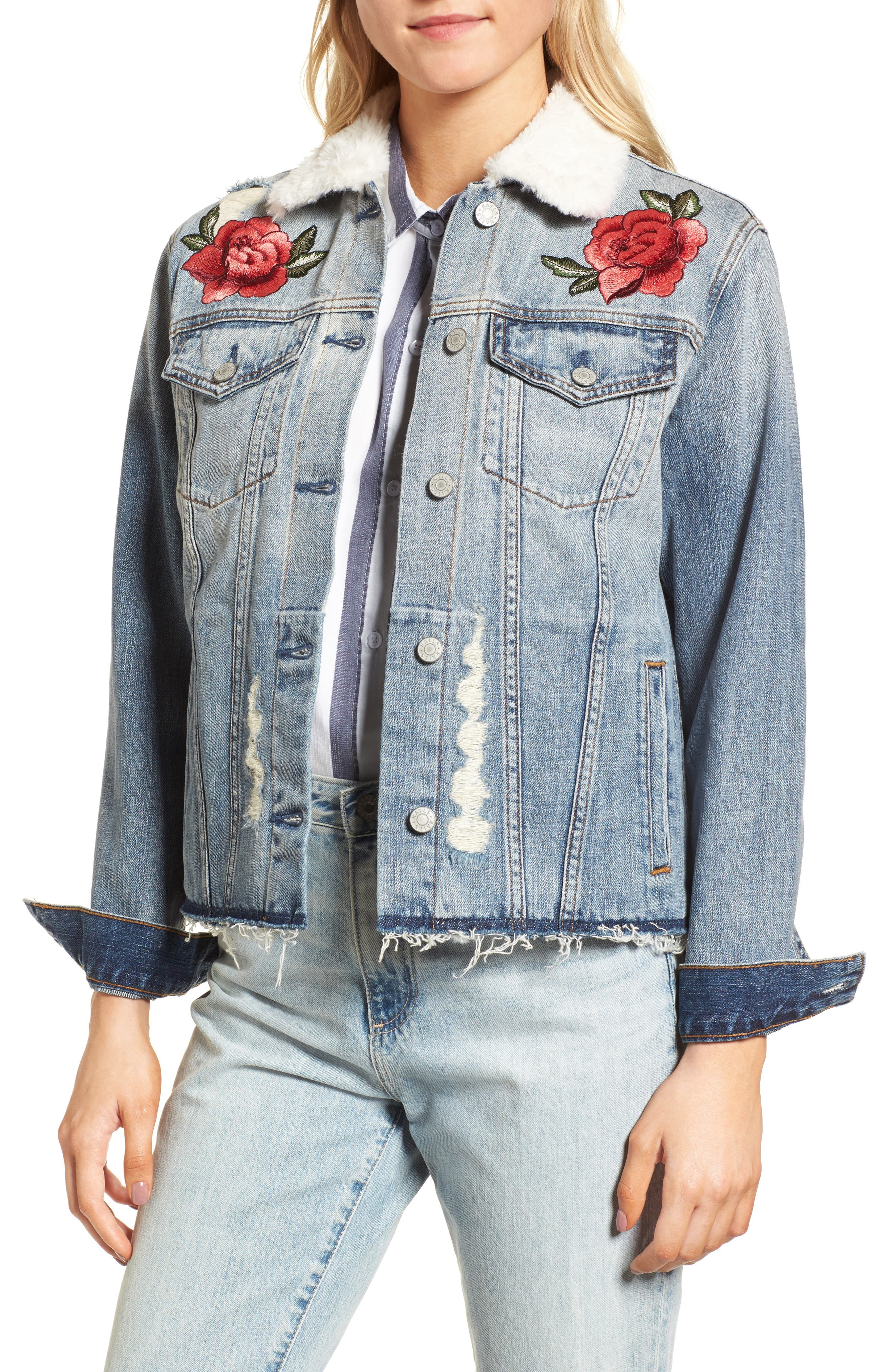 Ramsey Embroidered Denim Jacket,                             Main thumbnail 1, color,                             493