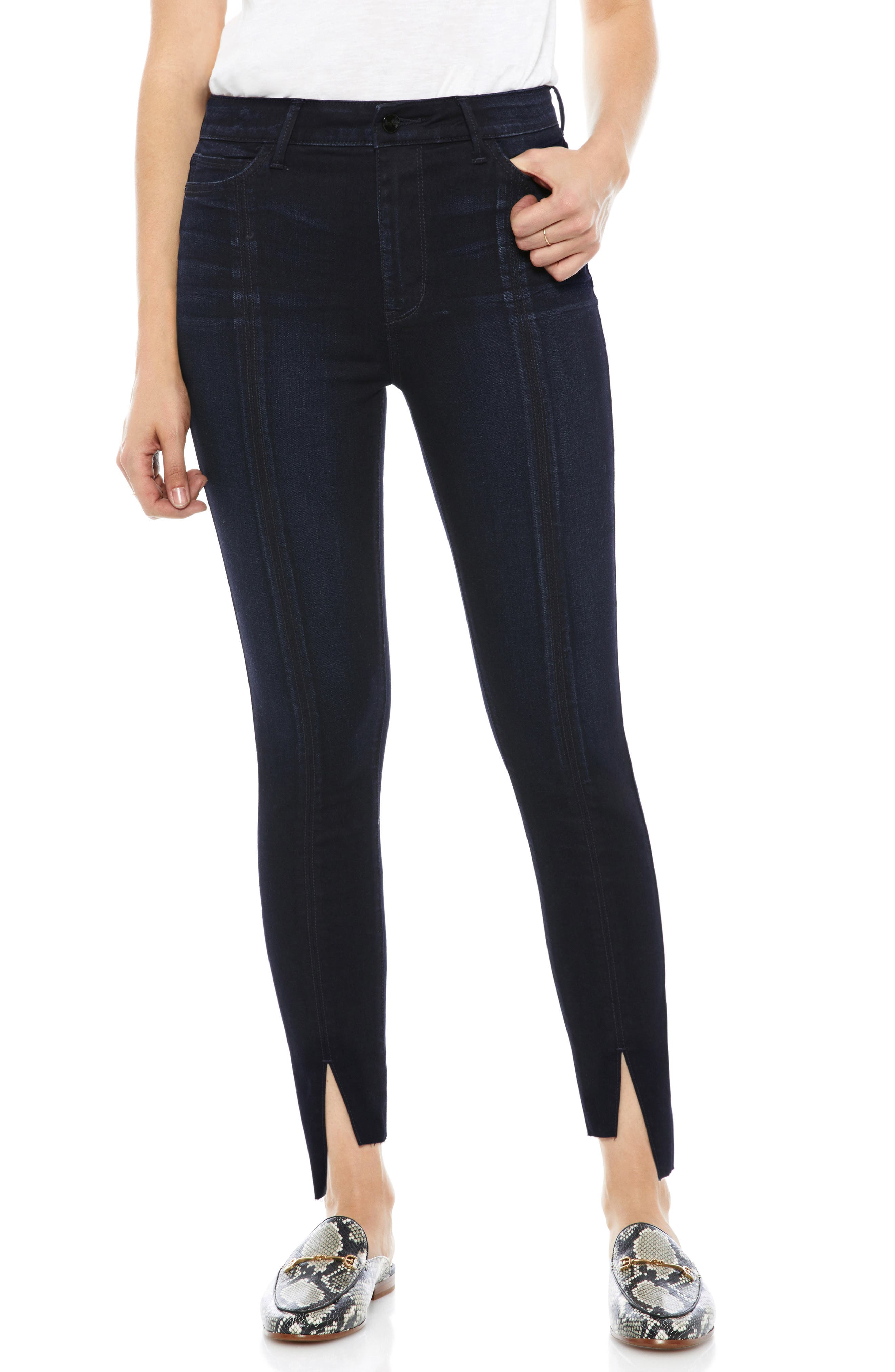 The Stiletto Pintuck High Rise Skinny Jeans,                             Main thumbnail 1, color,                             400