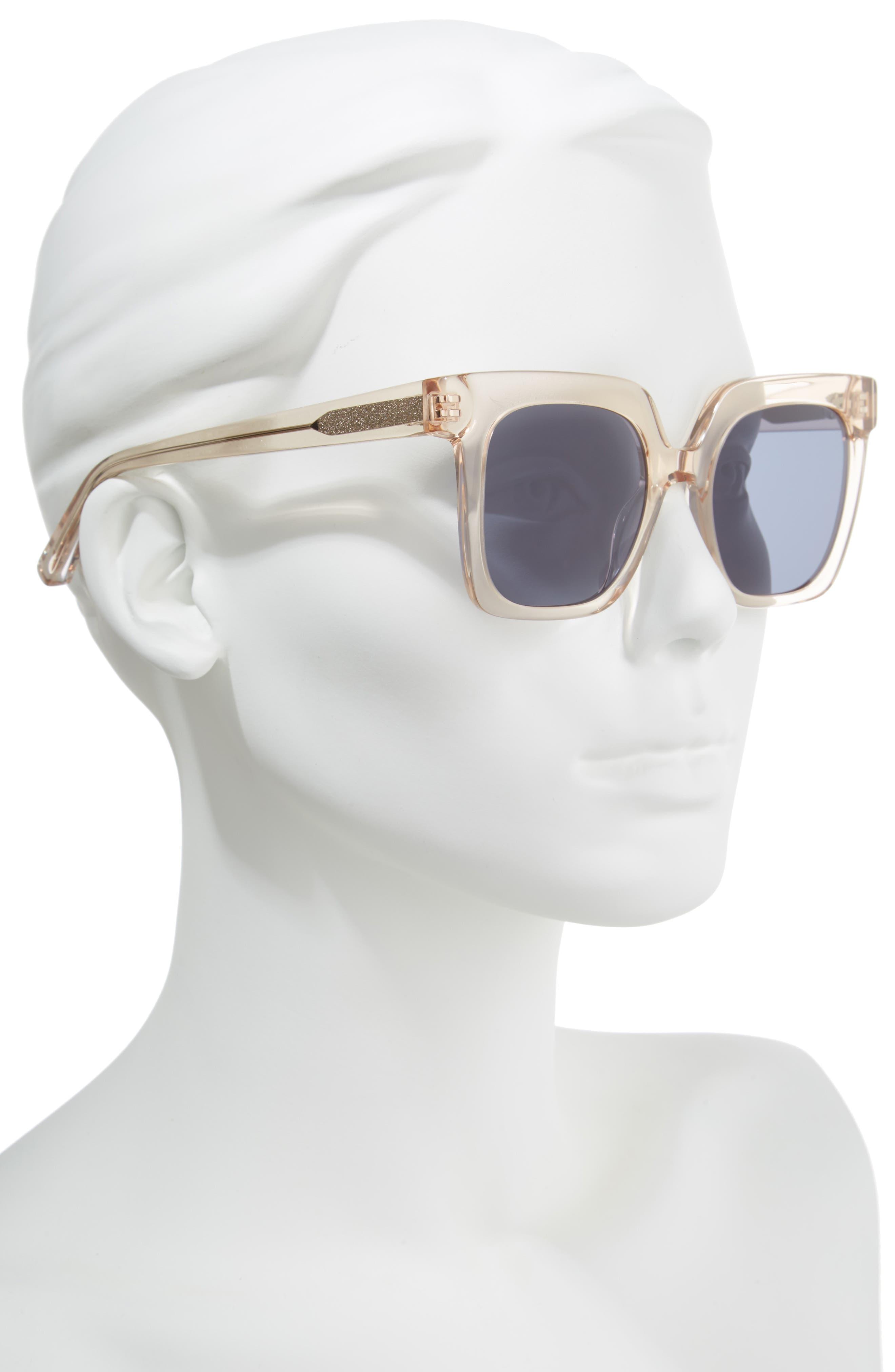 Rae 51mm Square Sunglasses,                             Alternate thumbnail 5, color,
