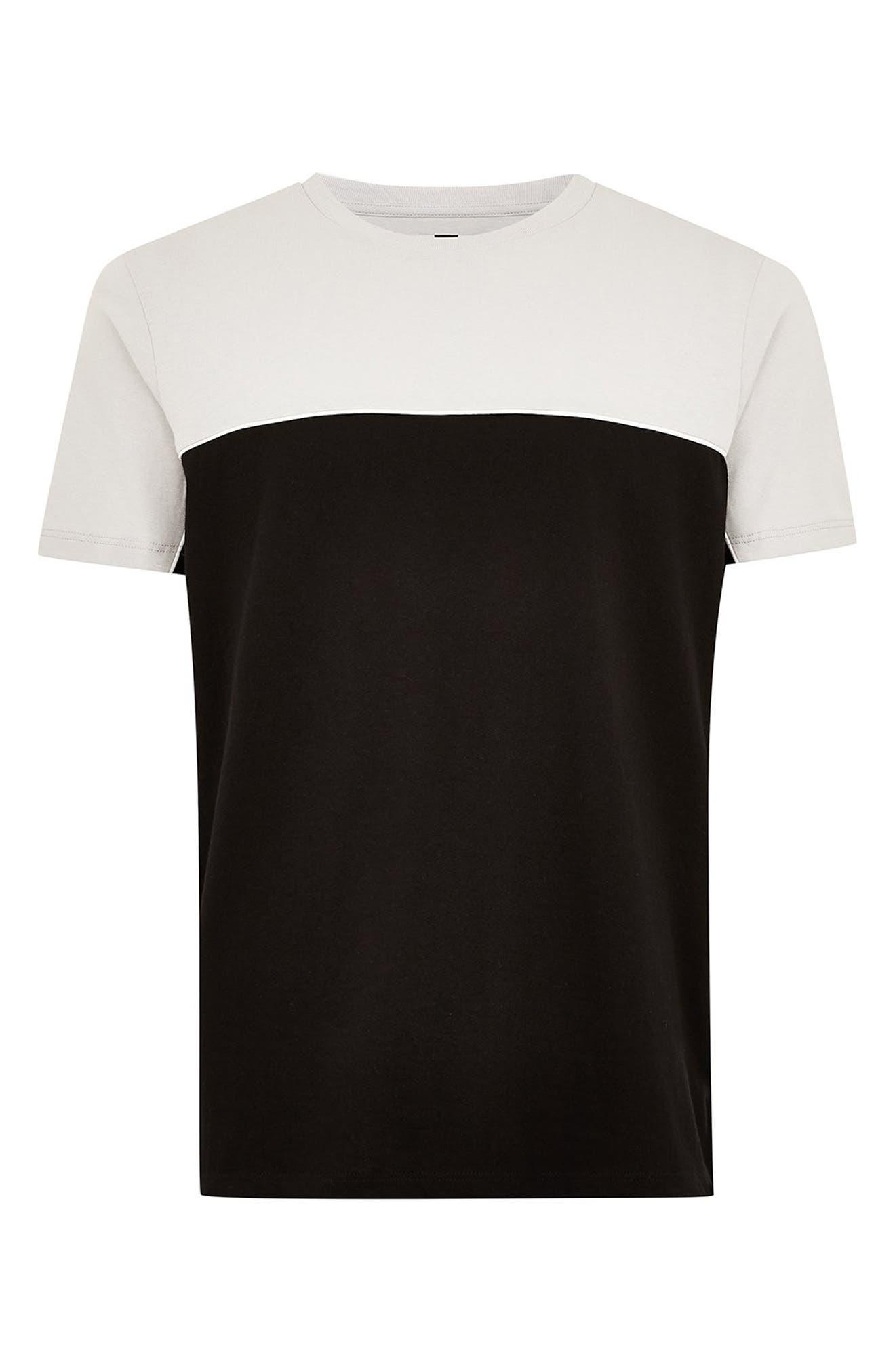 Colorblock T-Shirt,                             Alternate thumbnail 4, color,                             BLACK MULTI