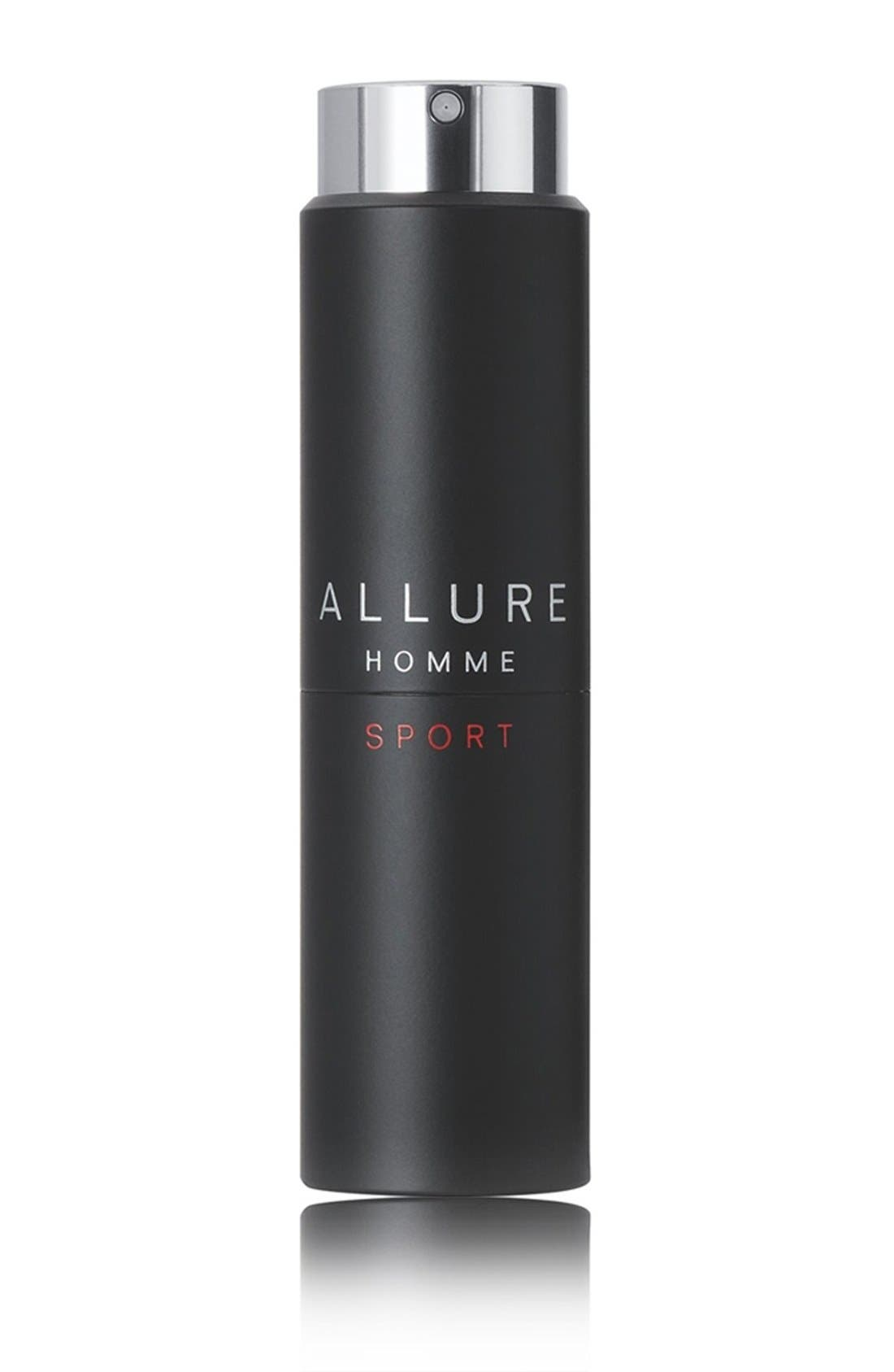ALLURE HOMME SPORT Eau de Toilette Refillable Travel Spray,                             Main thumbnail 1, color,                             NO COLOR