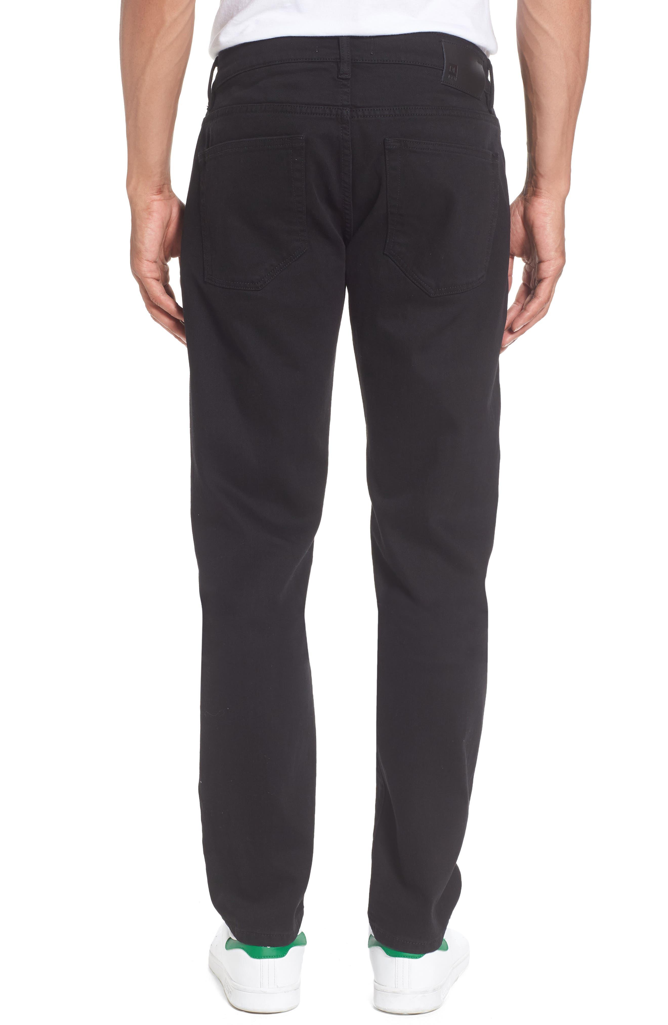 Nick Slim Fit Flat Front Pants,                             Alternate thumbnail 2, color,                             001