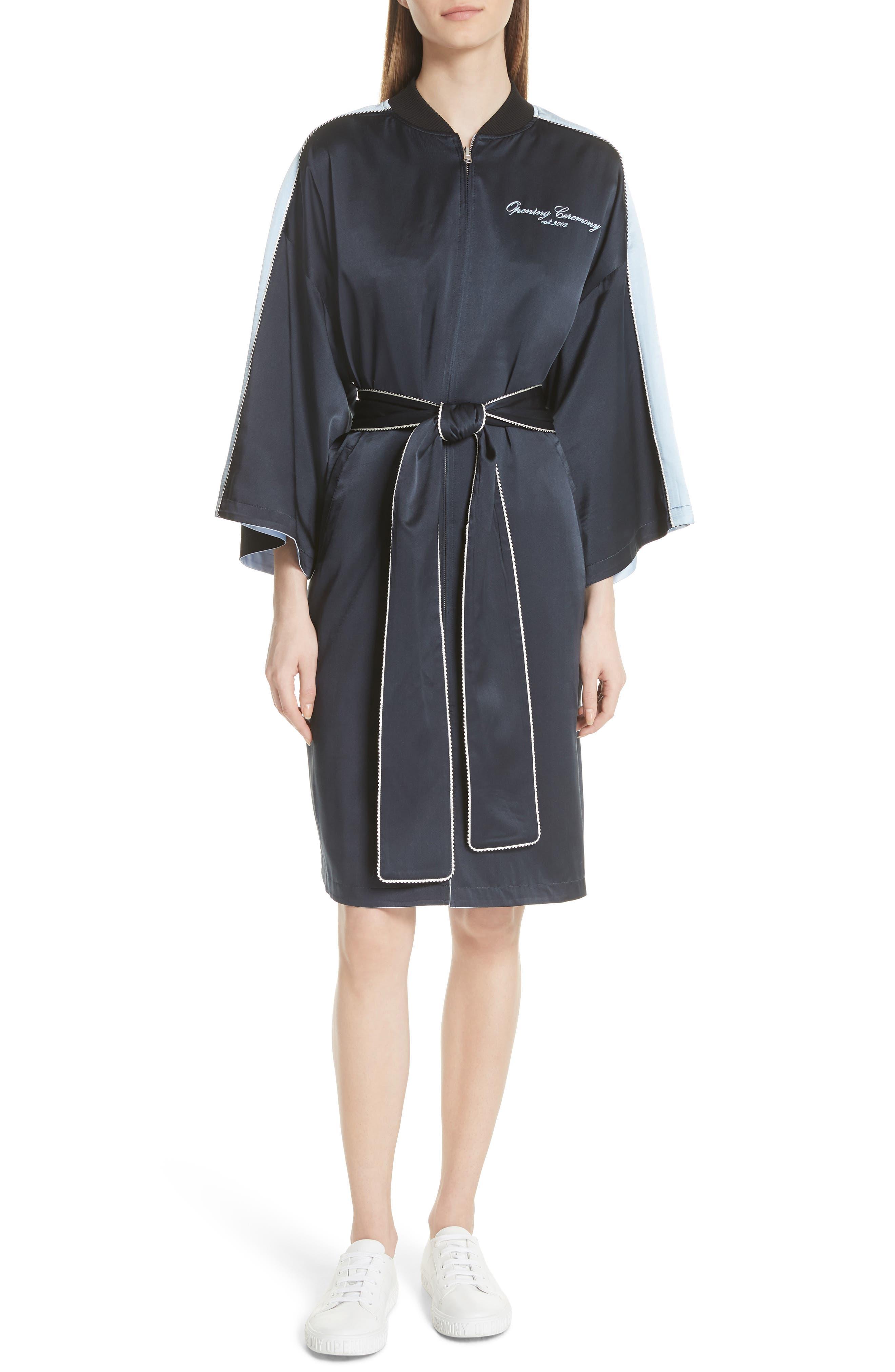 OPENING CEREMONY Reversible Silk Kimono Robe, Main, color, 435