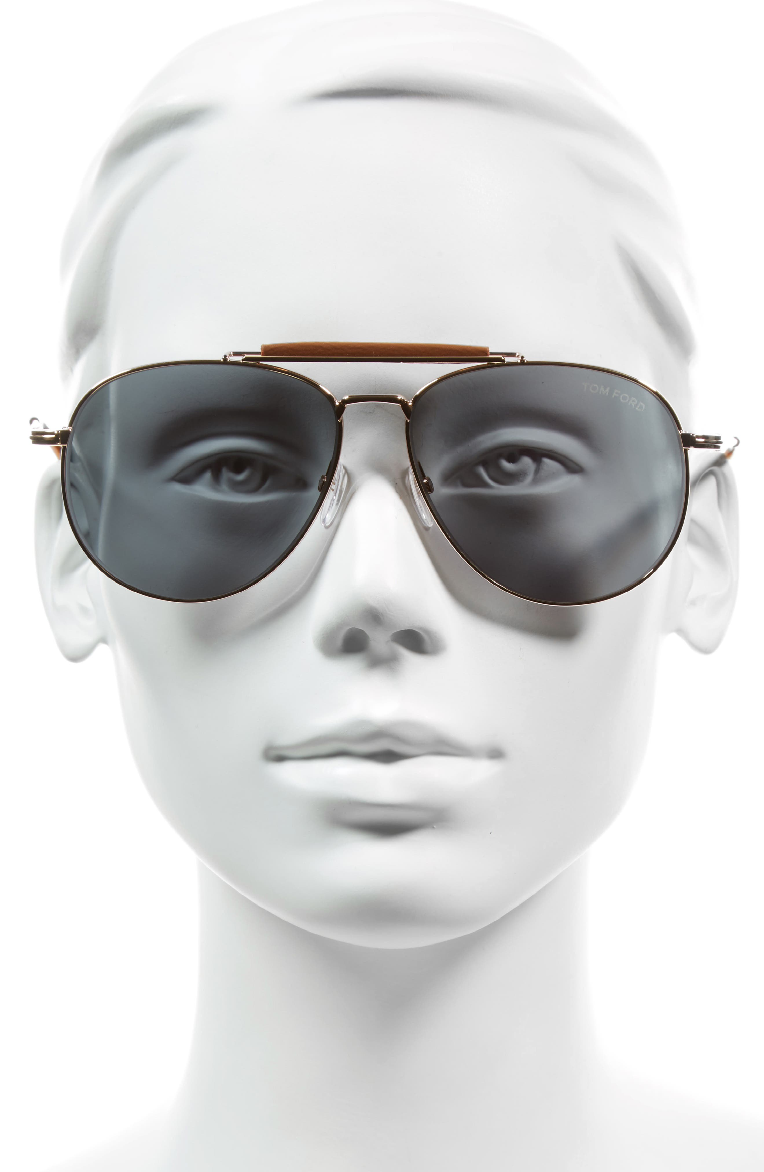 Sean 60mm Aviator Sunglasses,                             Alternate thumbnail 2, color,                             710