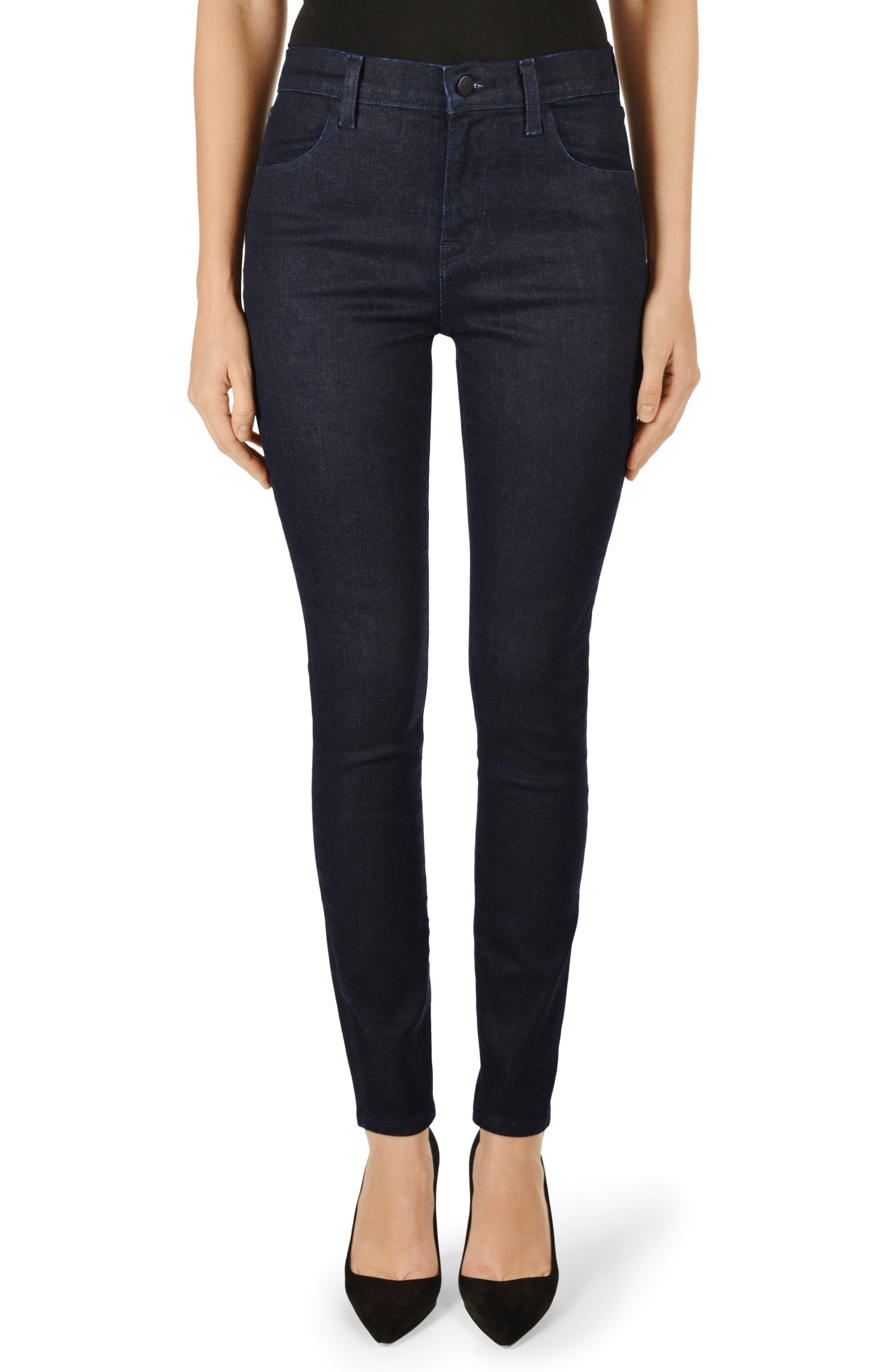 Maria High-Rise Skinny Jeans - Black Size 31