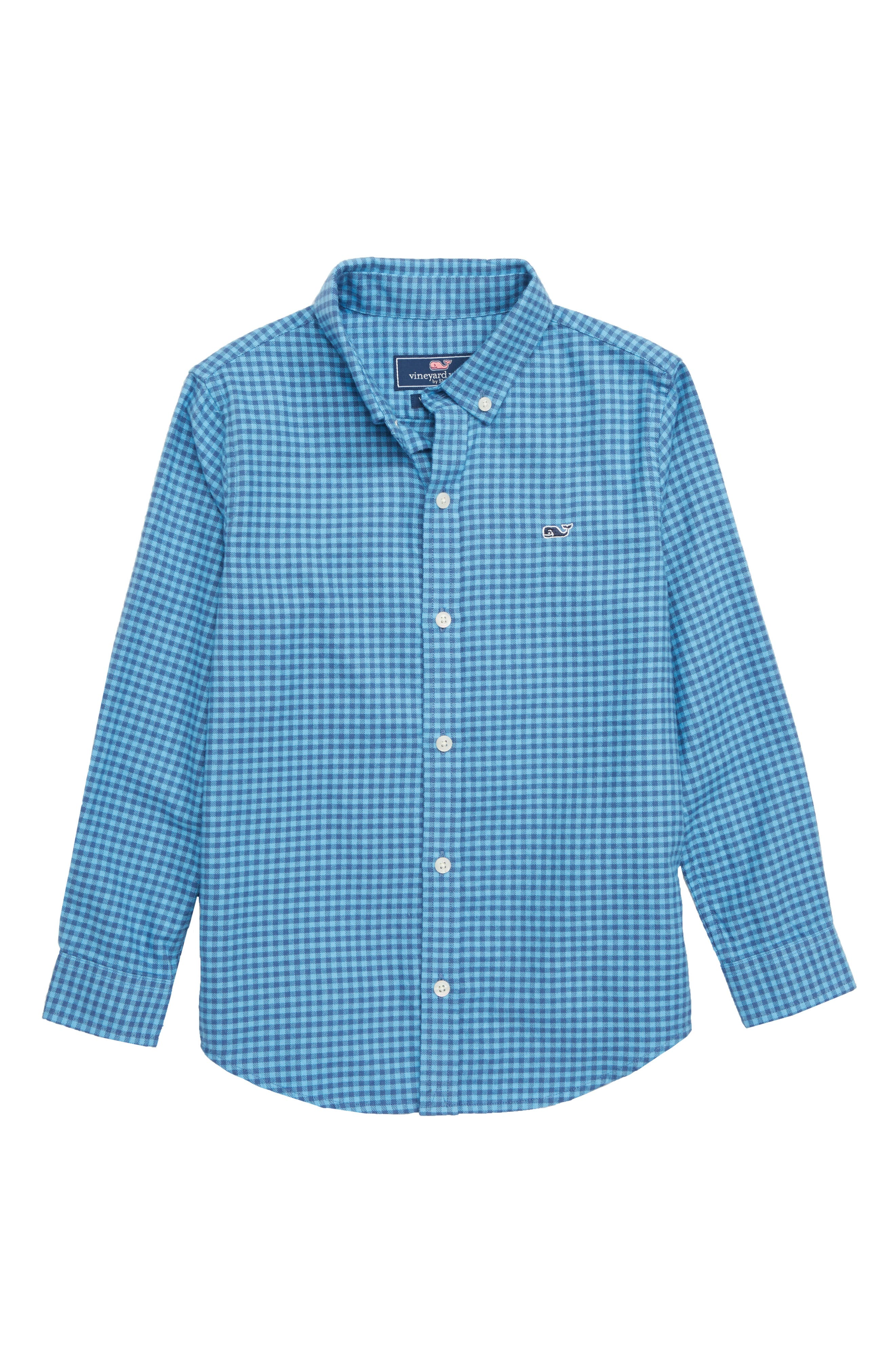 Tradewinds Flannel Whale Shirt,                         Main,                         color, OCEAN BREEZE