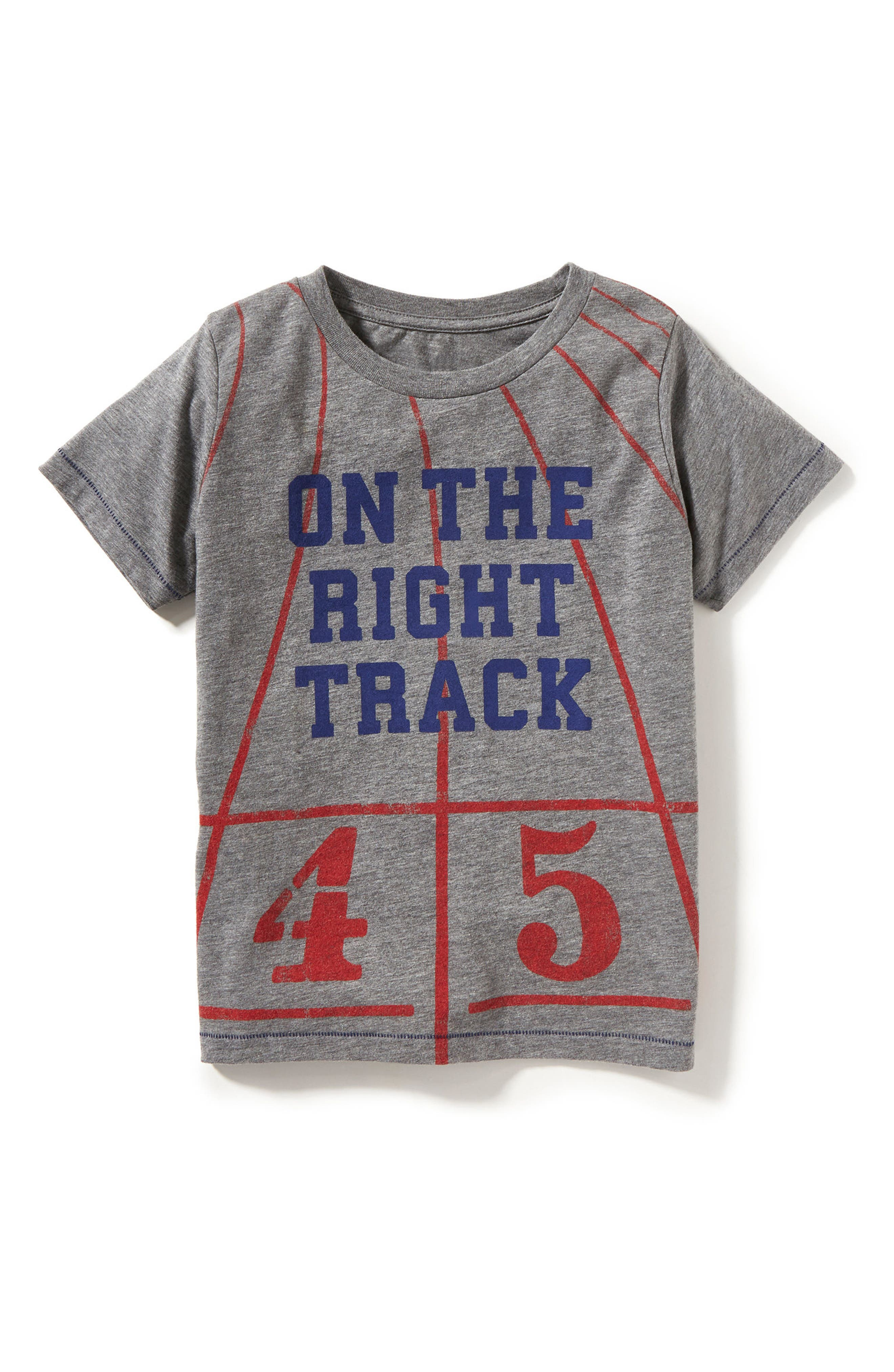 On the Right Track Graphic T-Shirt,                             Alternate thumbnail 2, color,                             020