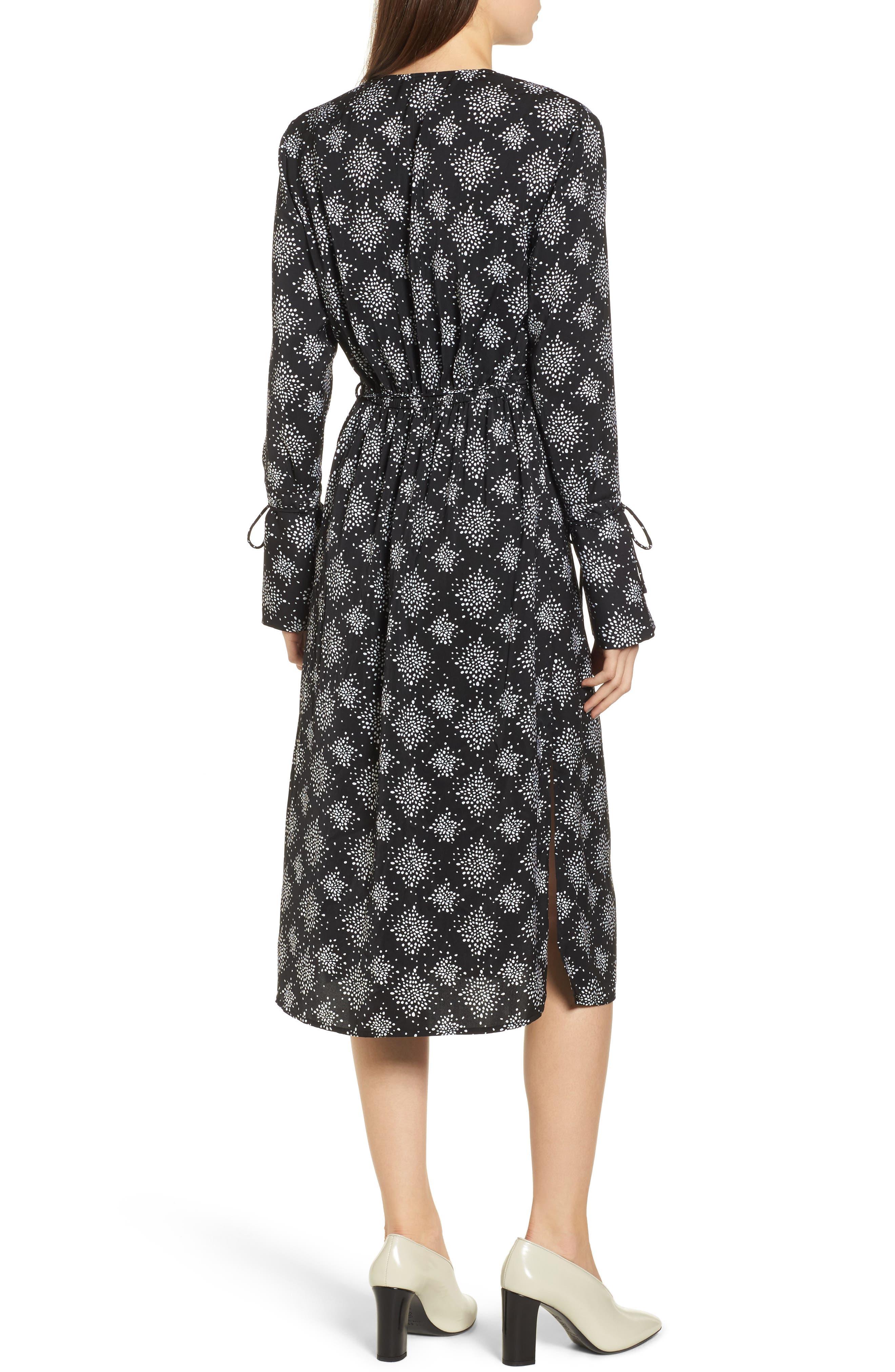 Emergent Wrap Midi Dress,                             Alternate thumbnail 2, color,                             002