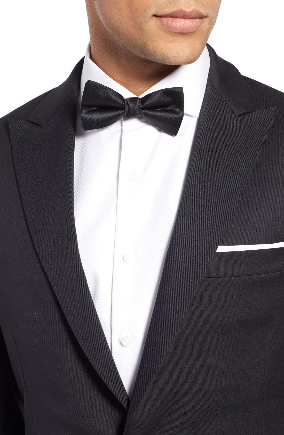 Classic Fit Wool Tuxedo,                             Alternate thumbnail 4, color,                             001