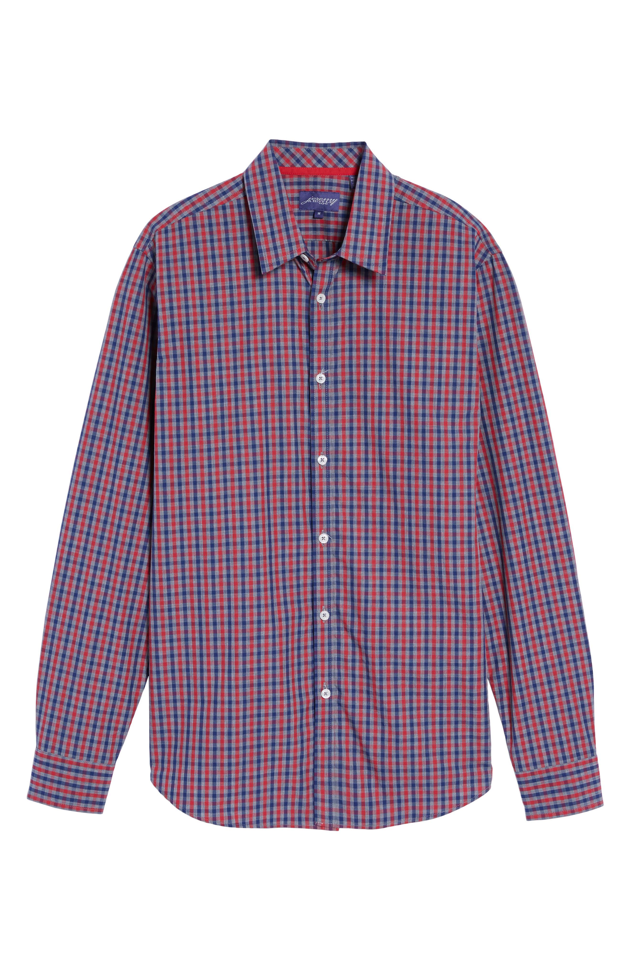 Comfort Fit Check Sport Shirt,                             Alternate thumbnail 6, color,