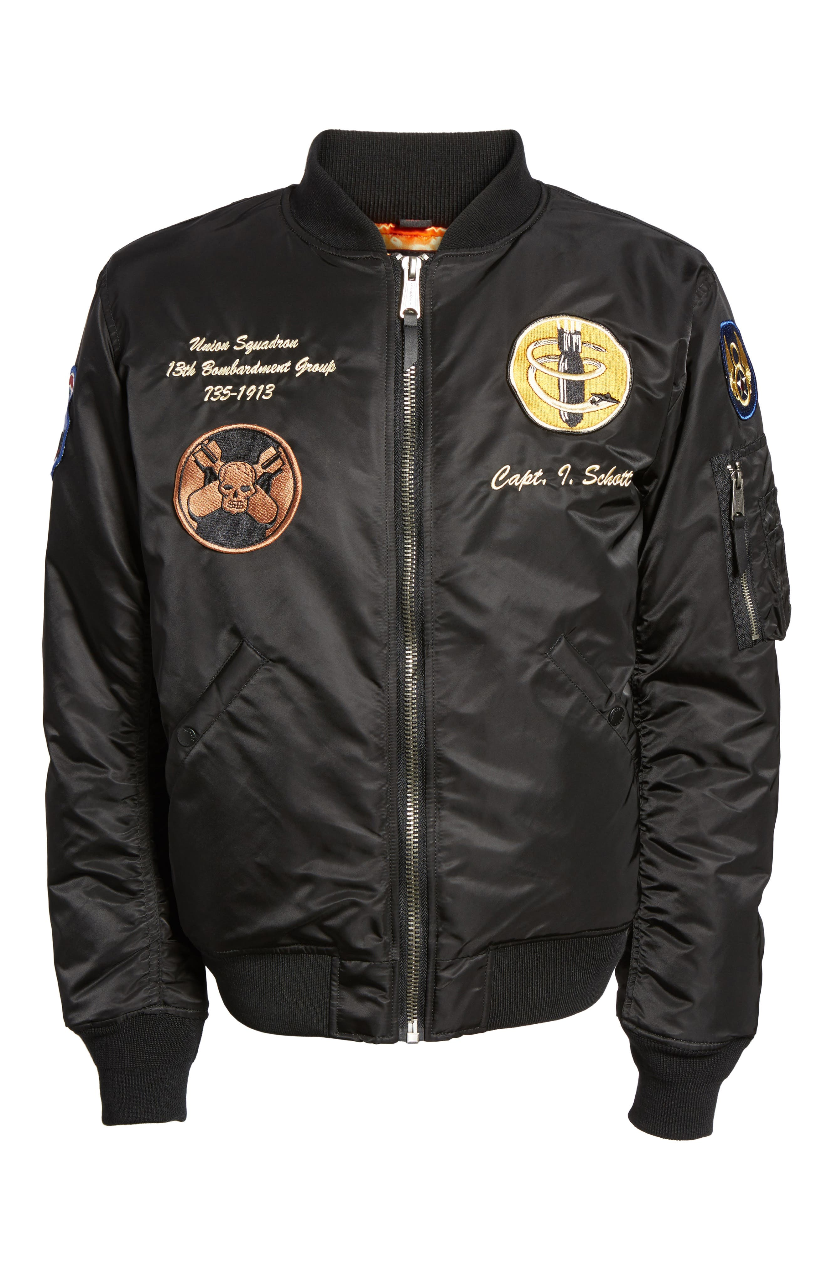 Highly Decorated Embroidered Flight Jacket,                             Alternate thumbnail 5, color,                             001