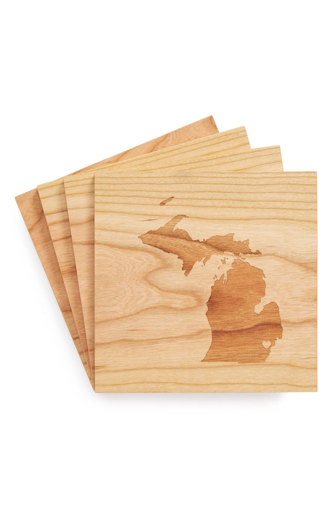'State Silhouette' Coasters,                             Main thumbnail 26, color,
