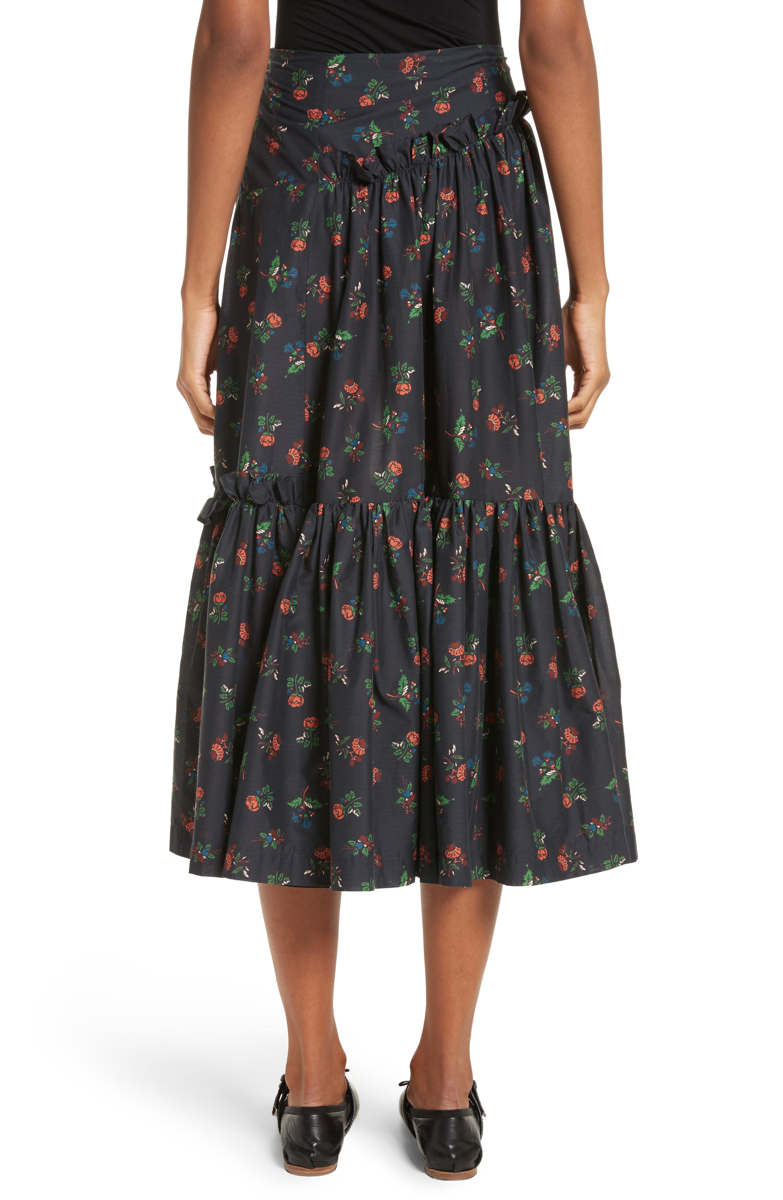 Tracey Floral Skirt,                             Alternate thumbnail 2, color,                             001