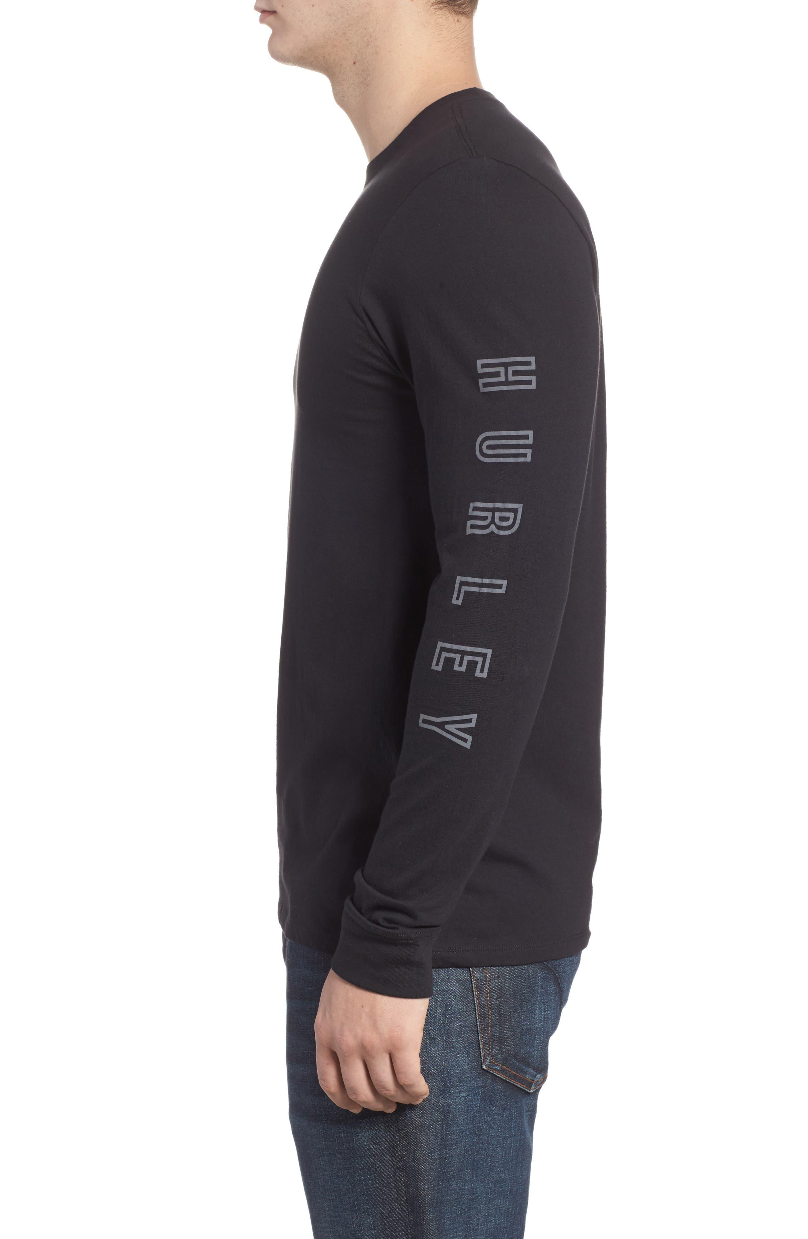 Port Logo Graphic Long Sleeve T-Shirt,                             Alternate thumbnail 3, color,                             010