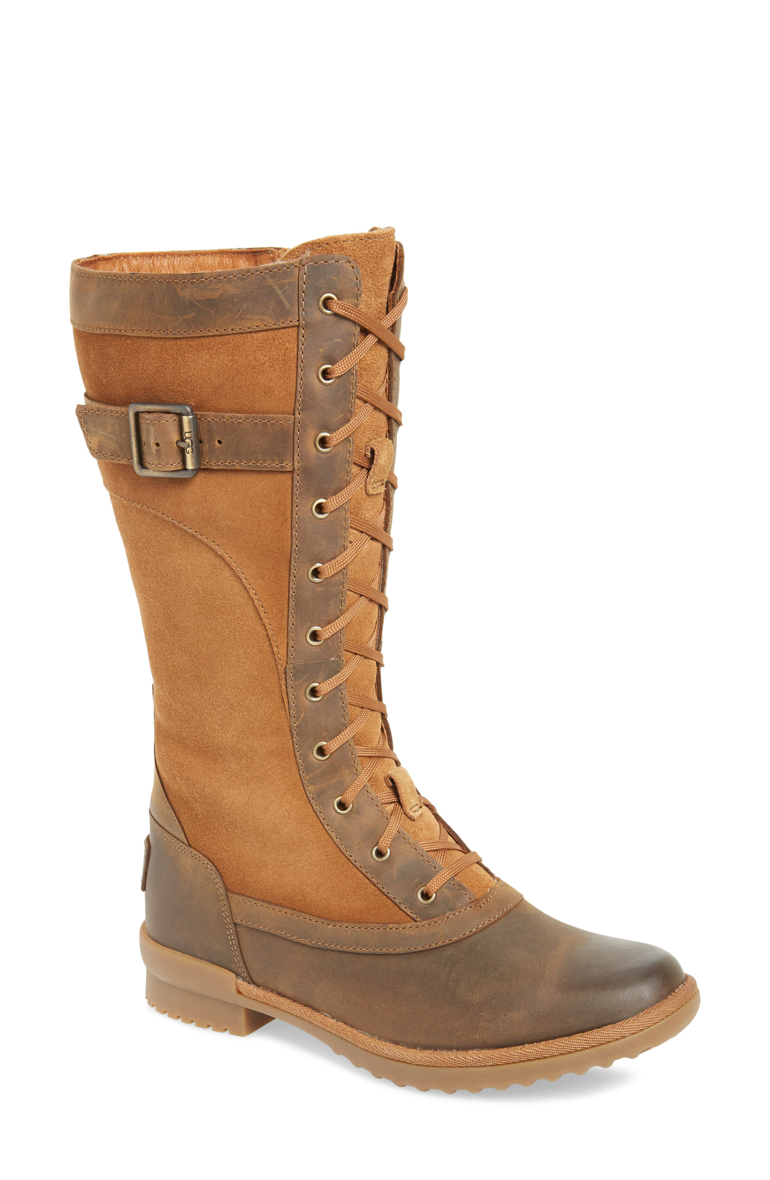 Brystl Waterproof Insulated Boot,                         Main,                         color, CHESTNUT