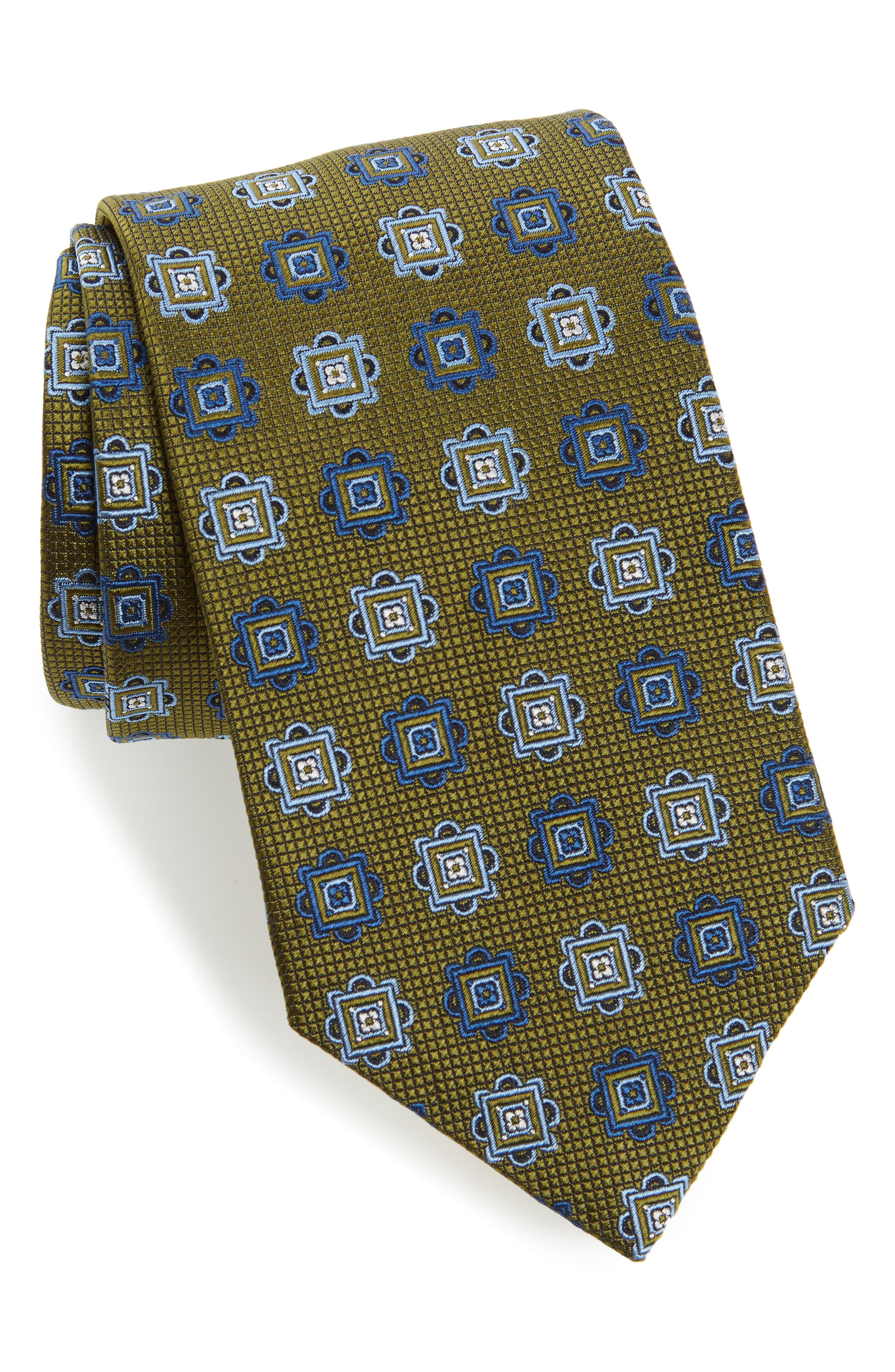 Medallion Silk Tie,                             Main thumbnail 1, color,                             314