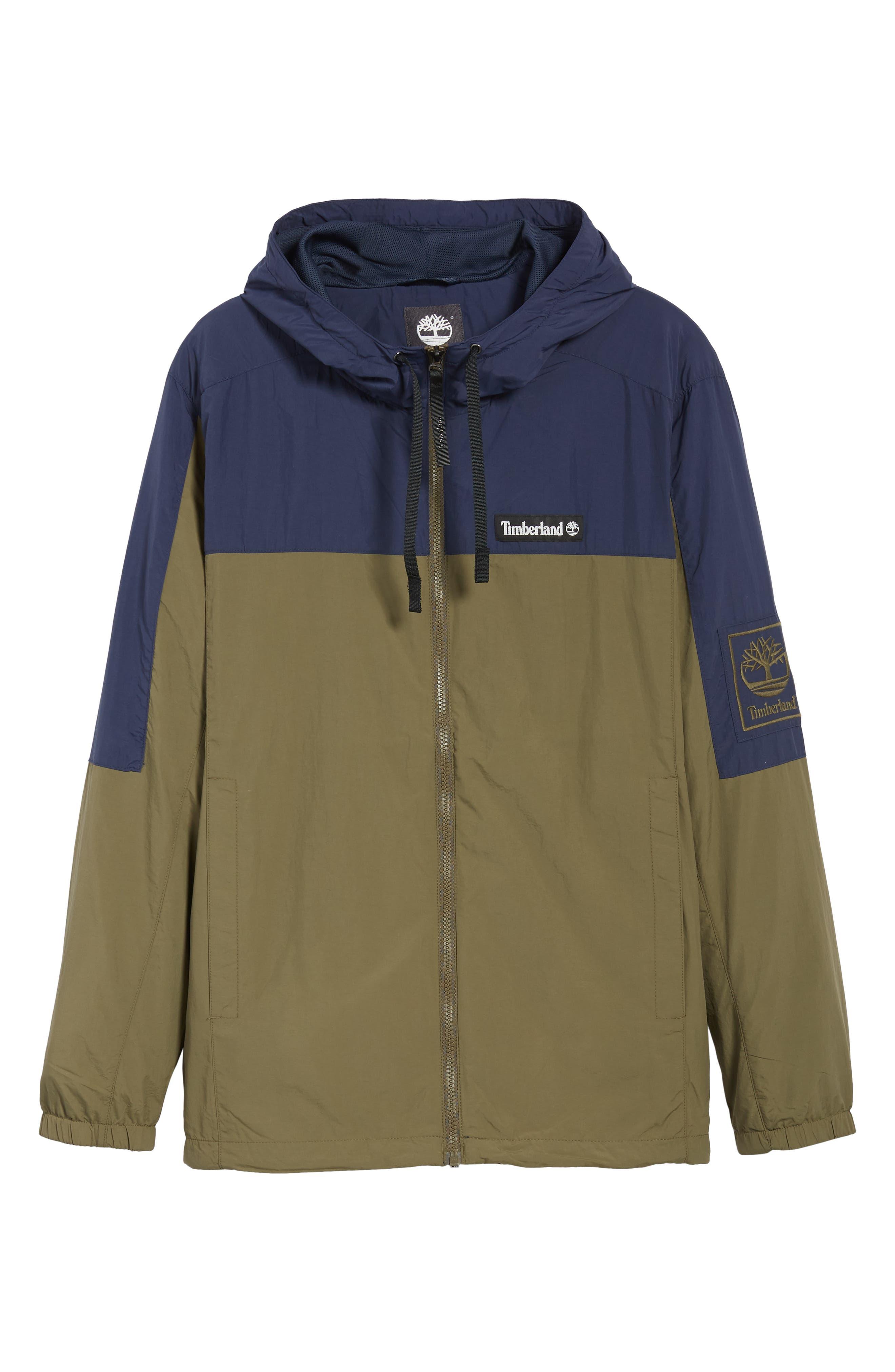 Windbreaker Hooded Jacket,                             Alternate thumbnail 6, color,                             GRAPE LEAF/ BLACK IRIS