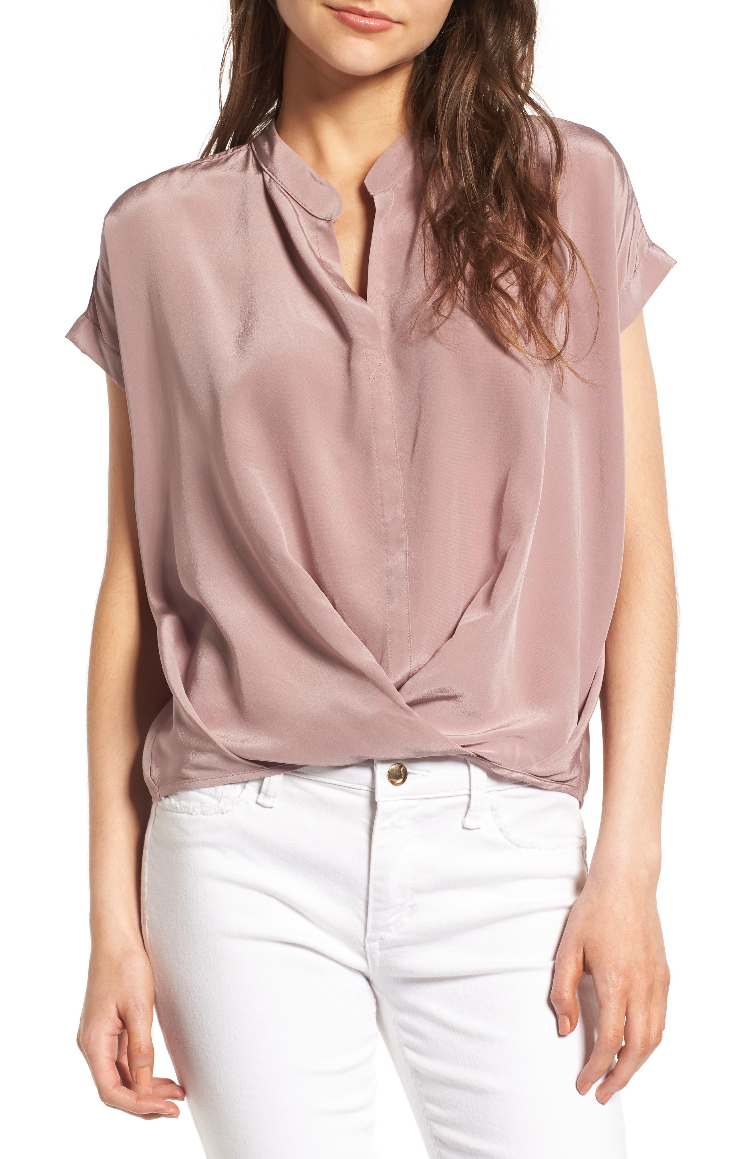 Dahlia Silk Blouse,                         Main,                         color, 530