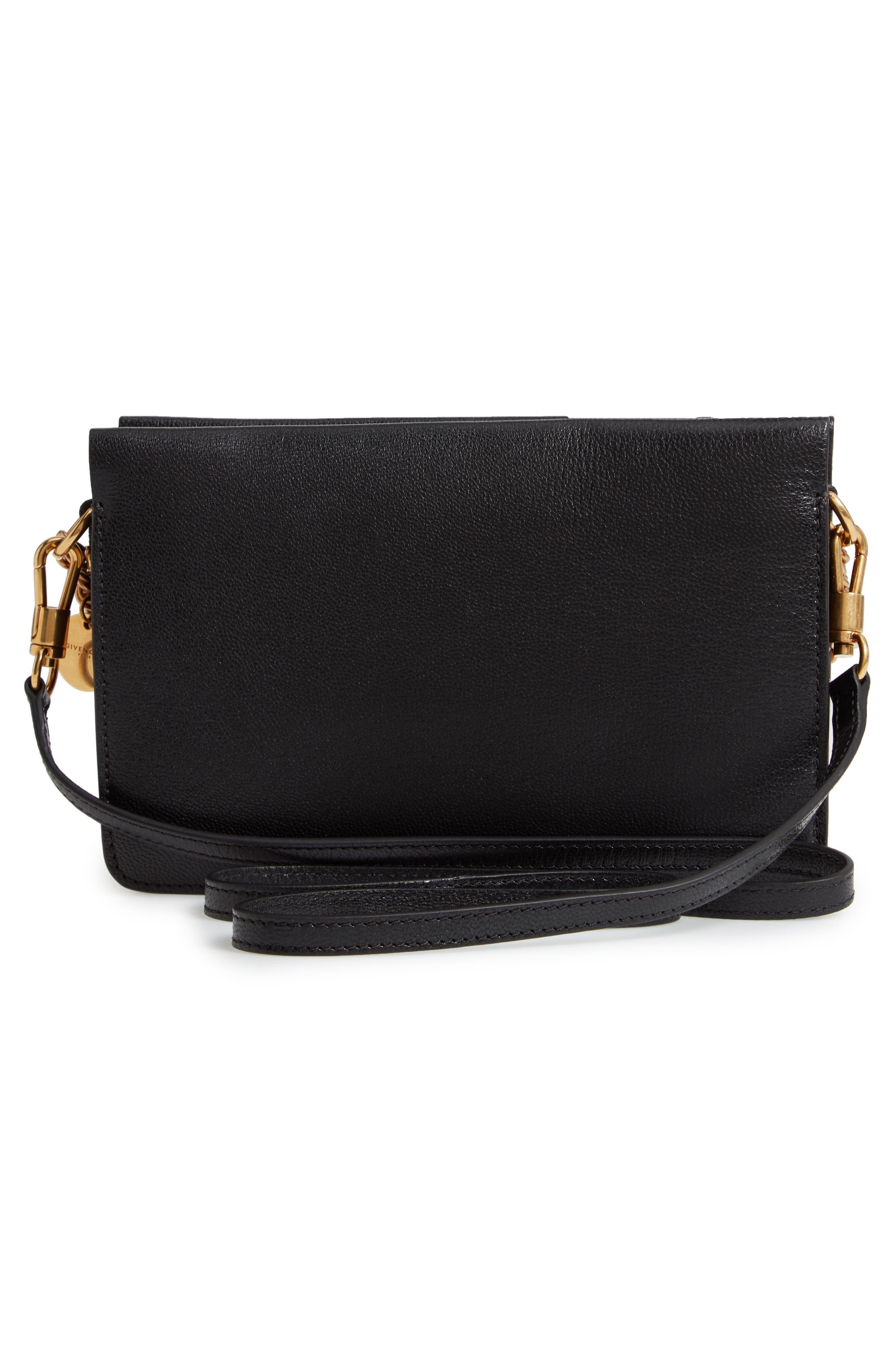 Cross 3 Leather Crossbody Bag,                             Alternate thumbnail 3, color,                             BLACK