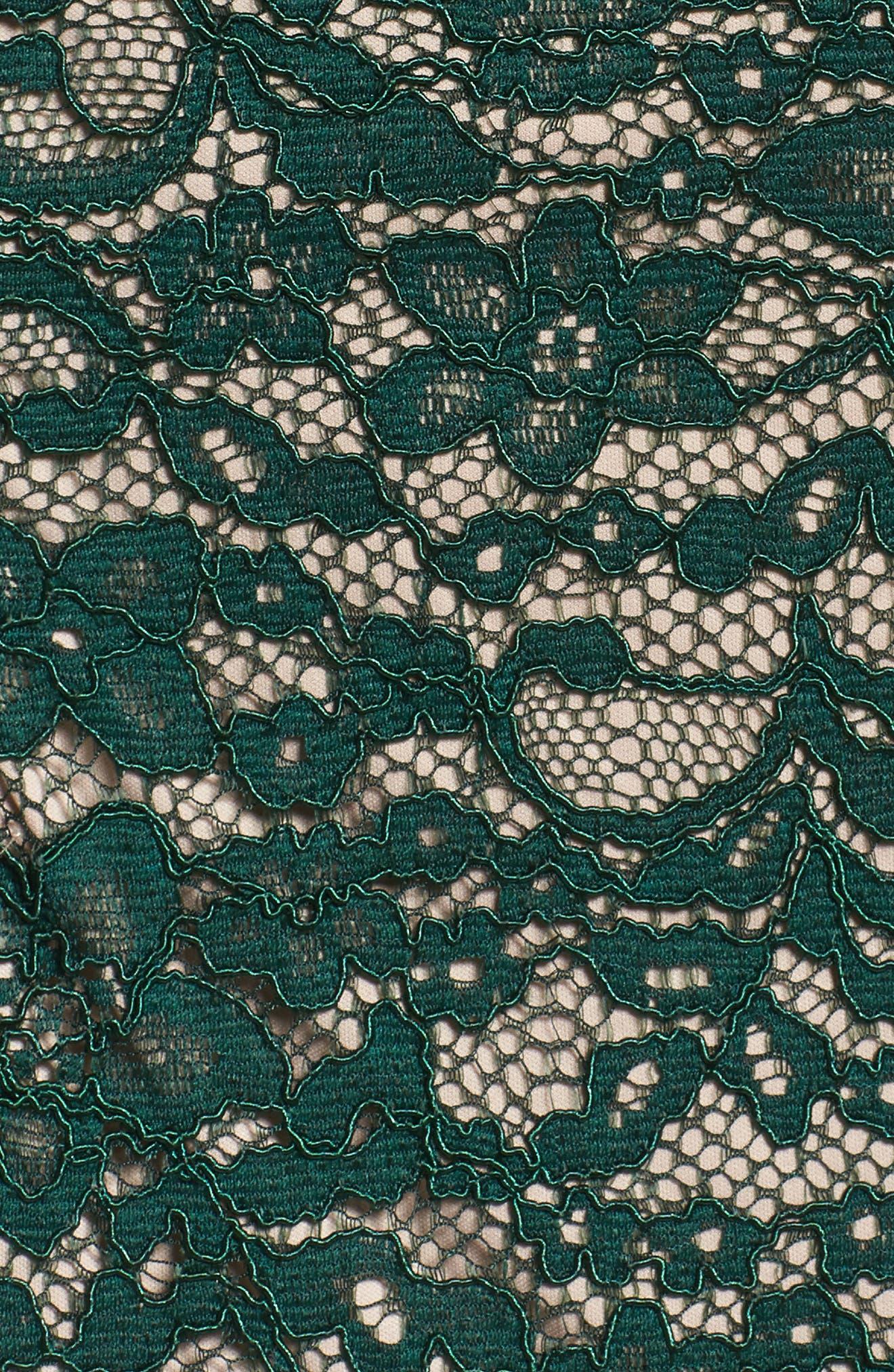 Off the Shoulder Lace Sheath Dress,                             Alternate thumbnail 5, color,                             303