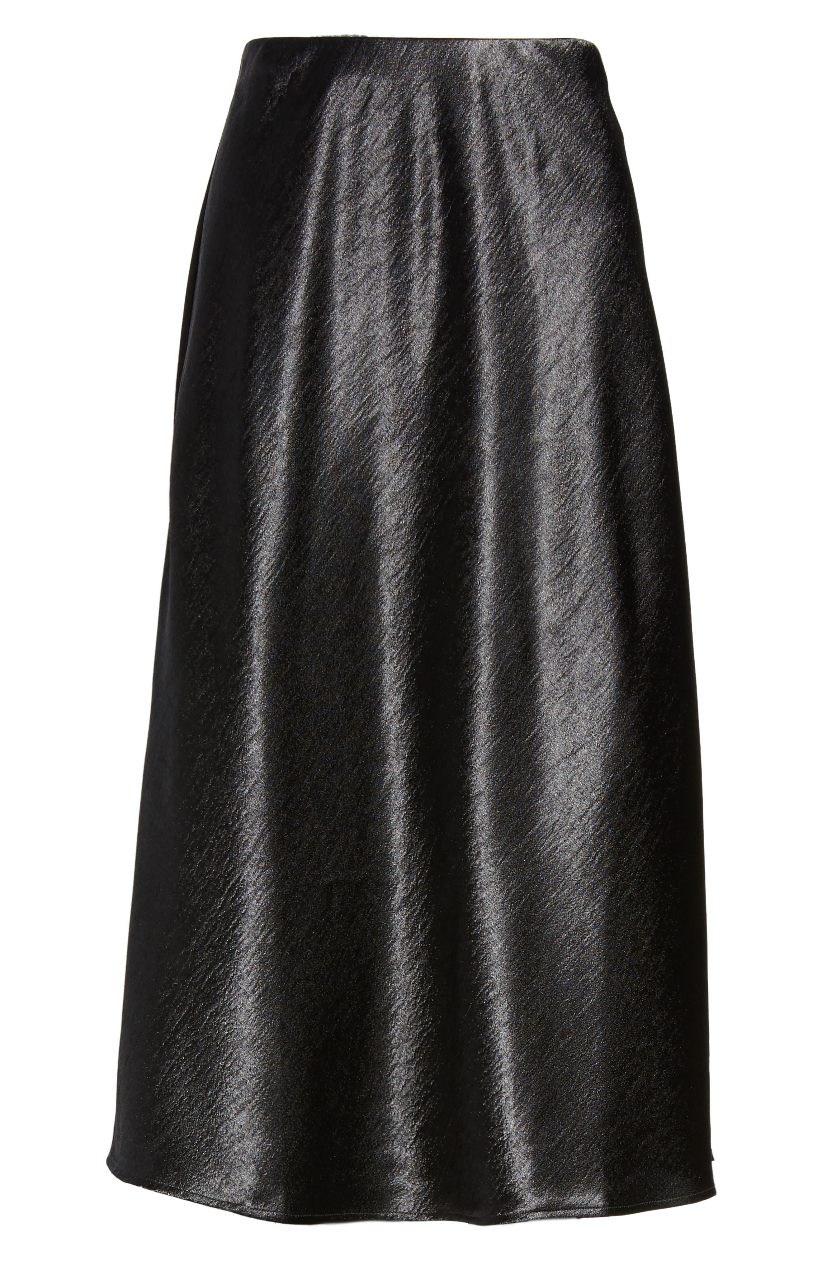 Satin Midi Skirt,                             Alternate thumbnail 11, color,
