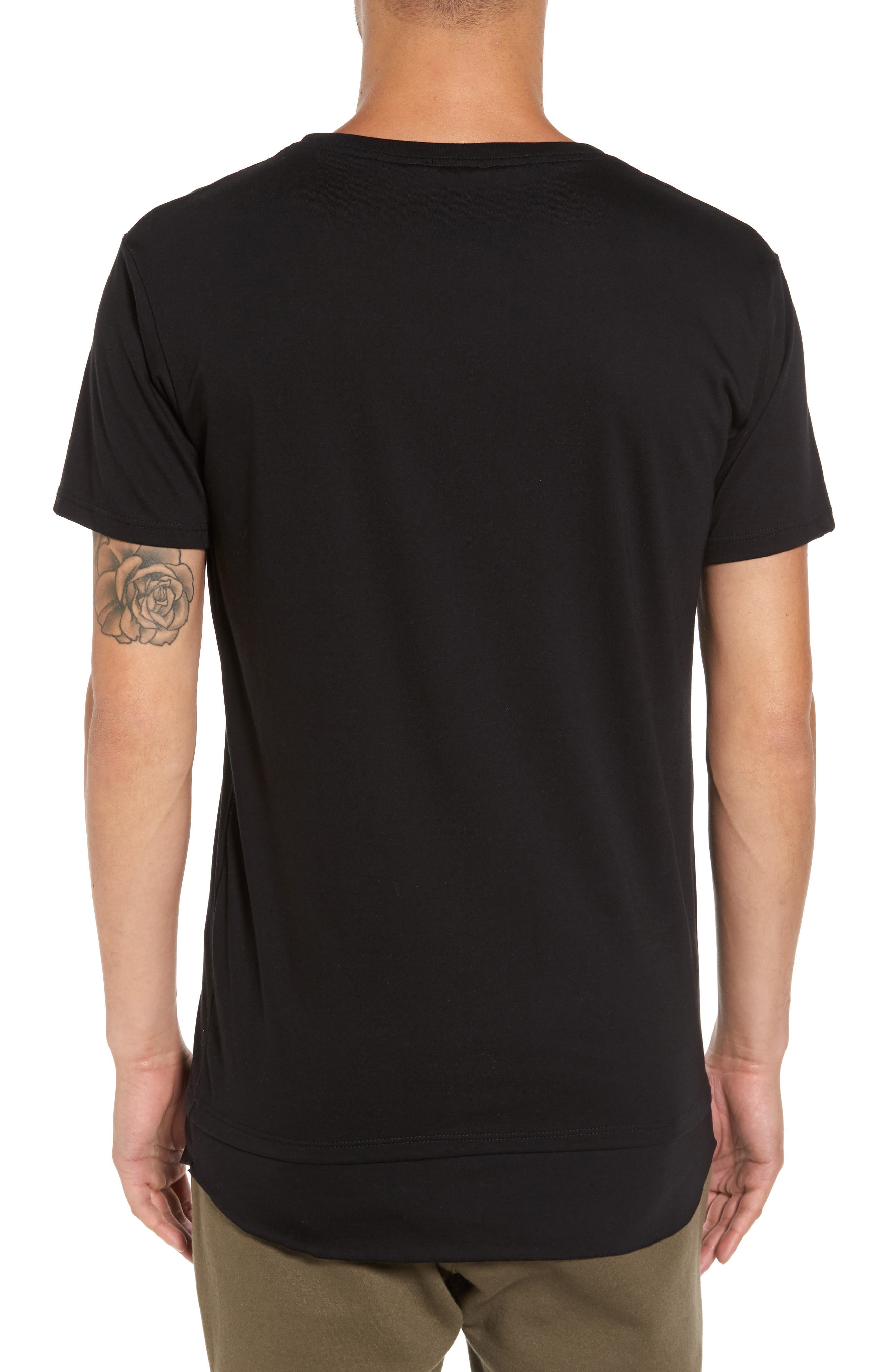 Double Layer T-Shirt,                             Alternate thumbnail 2, color,                             001