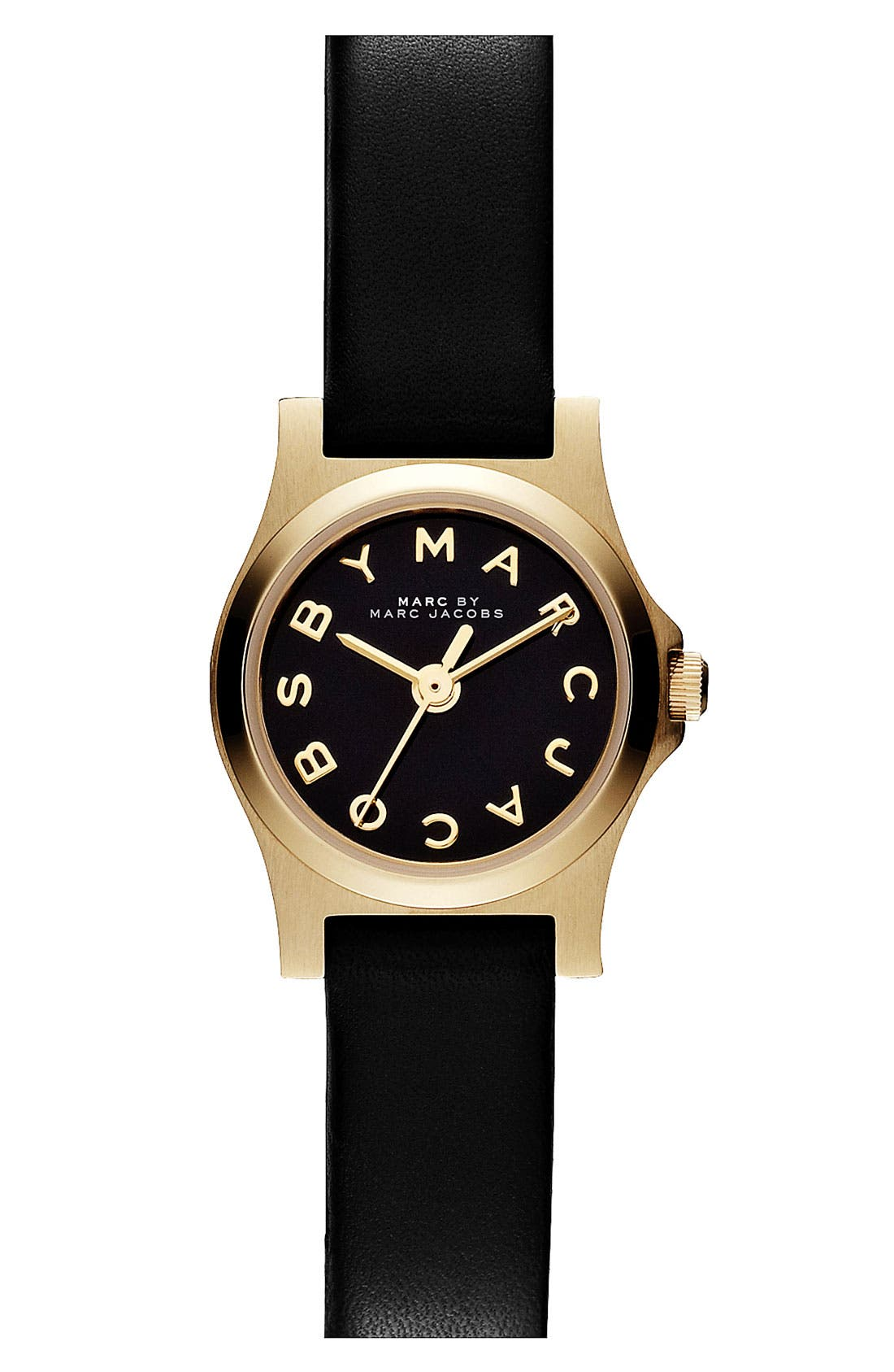 'Henry Dinky' Leather Strap Watch, 20mm, Main, color, 001