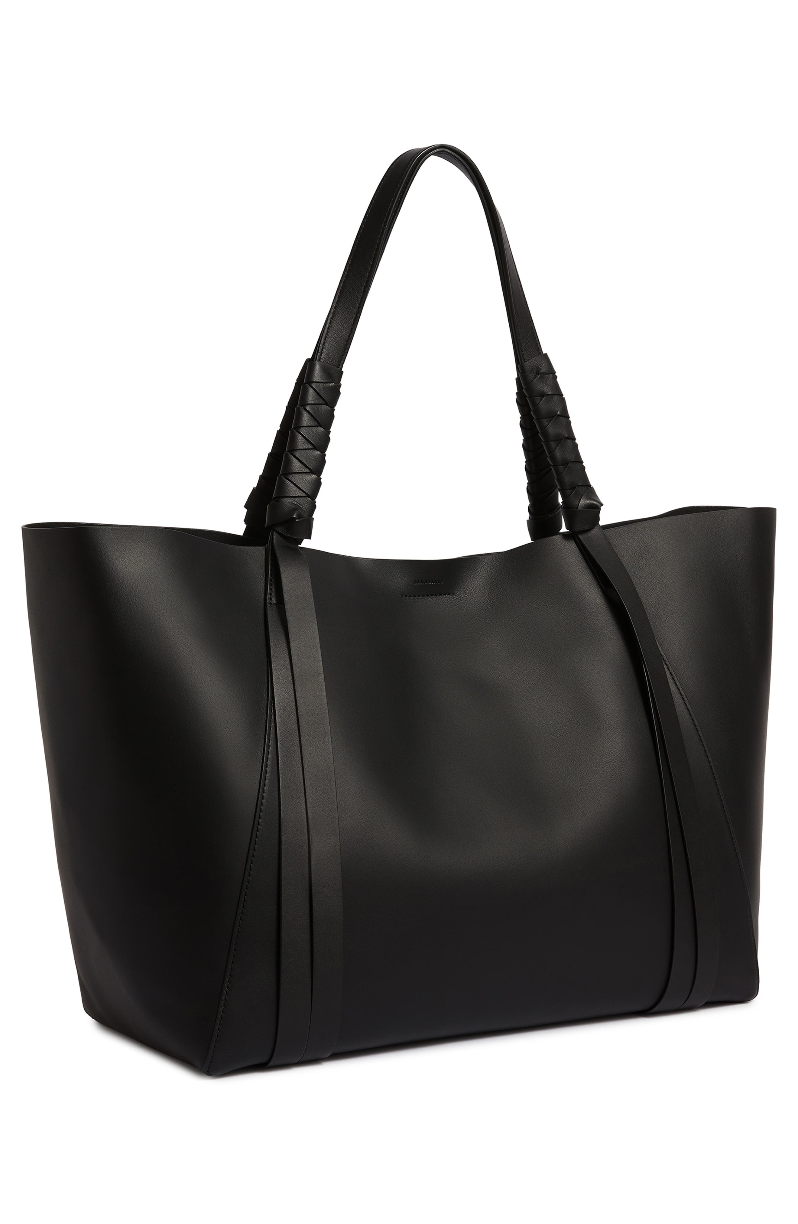 Voltaire Leather Tote,                             Alternate thumbnail 10, color,                             BLACK