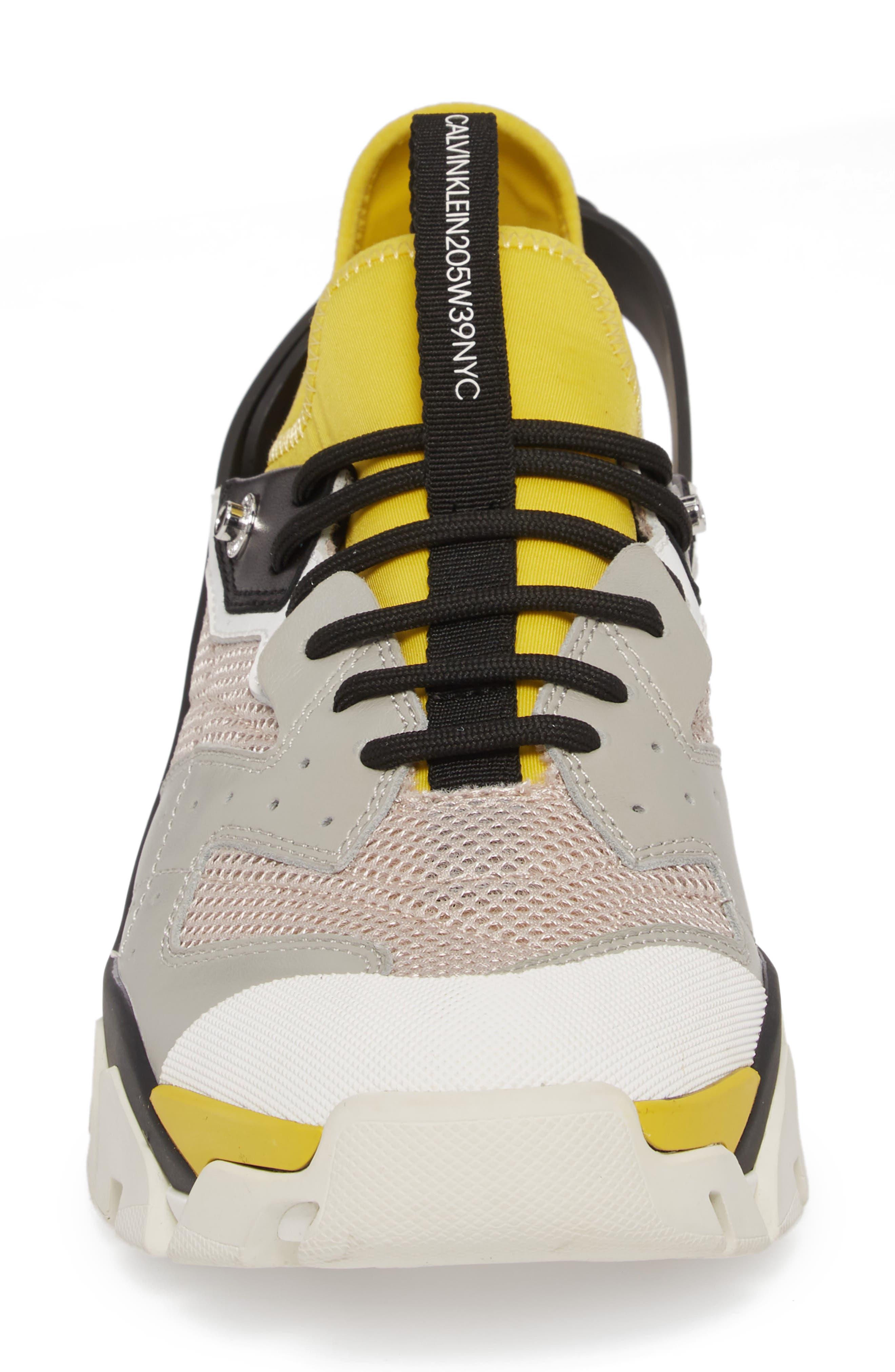 Carlos 10 Snapback Runner Sneaker,                             Alternate thumbnail 4, color,                             GREY/ YELLOW/ BLACK/ WHITE
