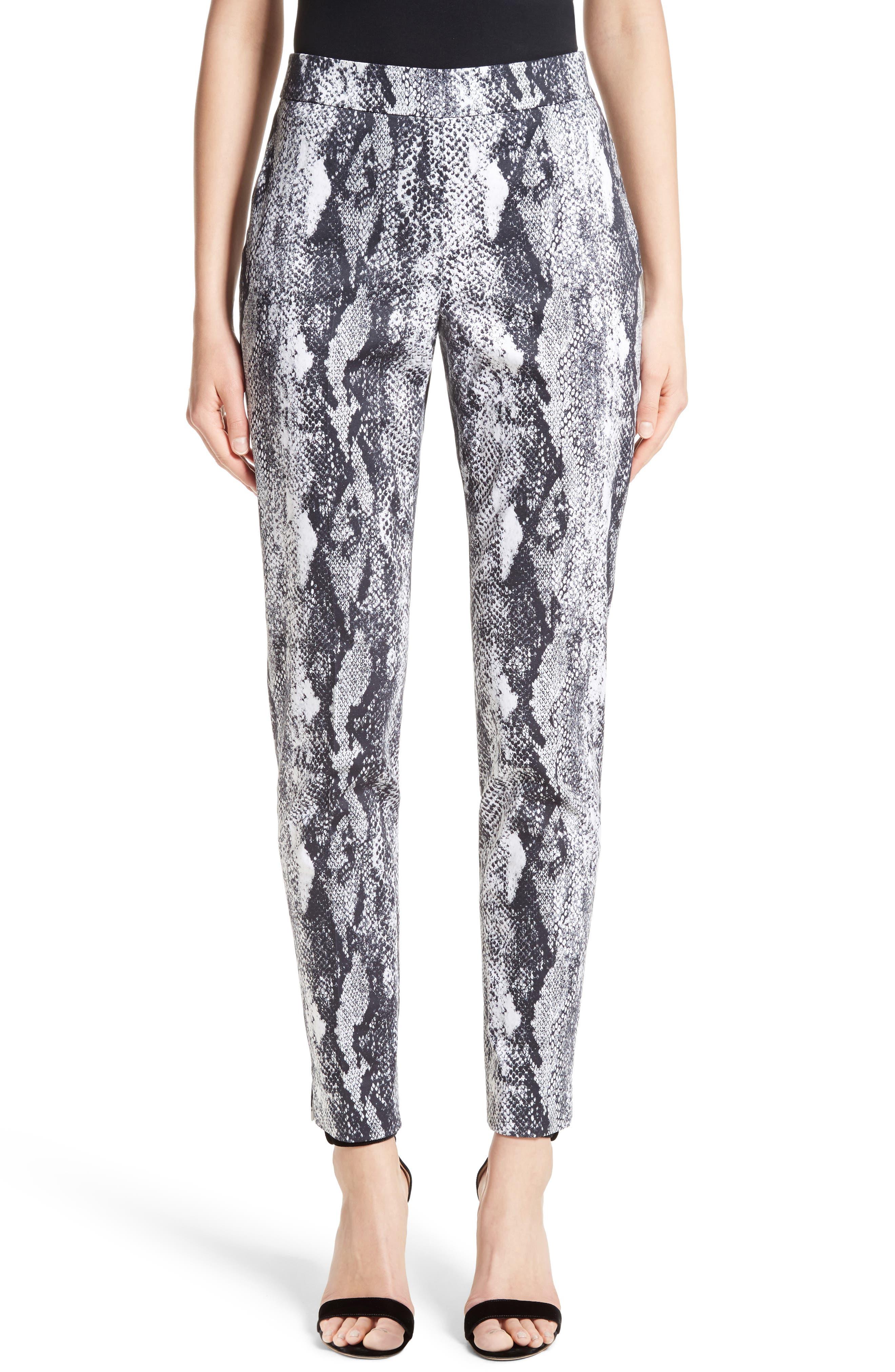 Emma Raja Snakeskin Print Pants,                         Main,                         color, 050