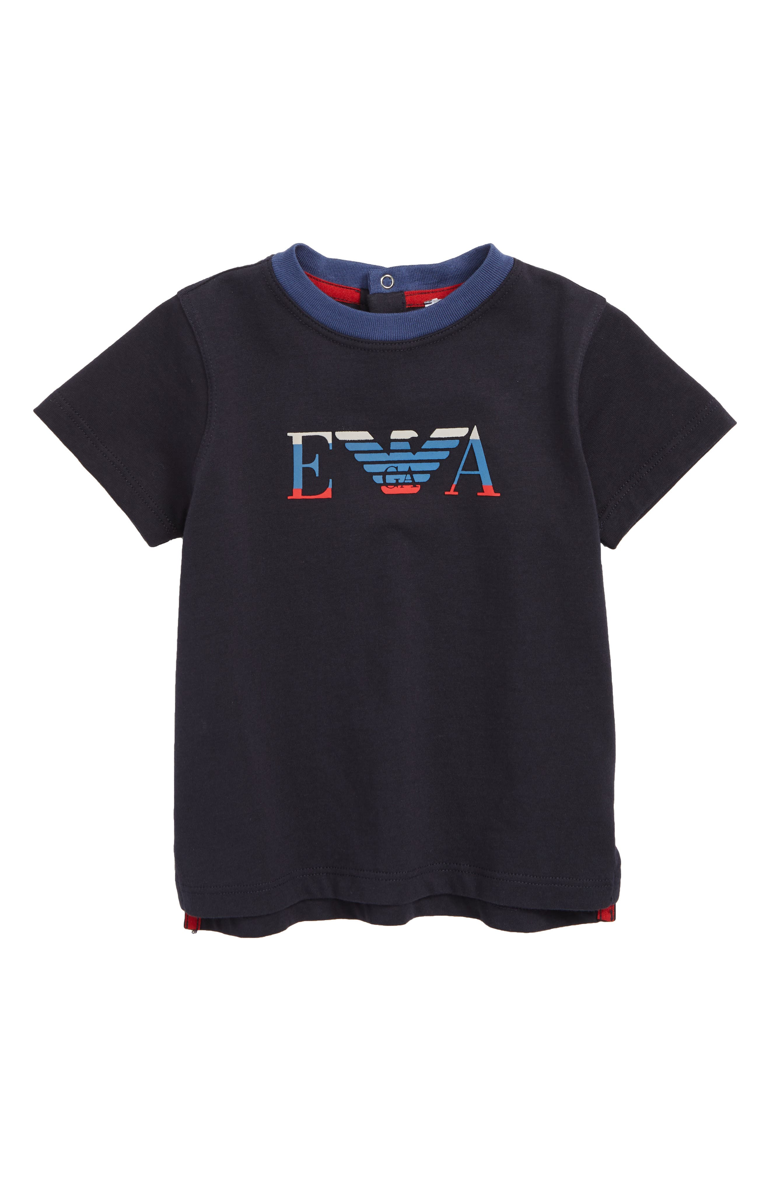 Graphic T-Shirt,                         Main,                         color, SOLID BLUE NAVY