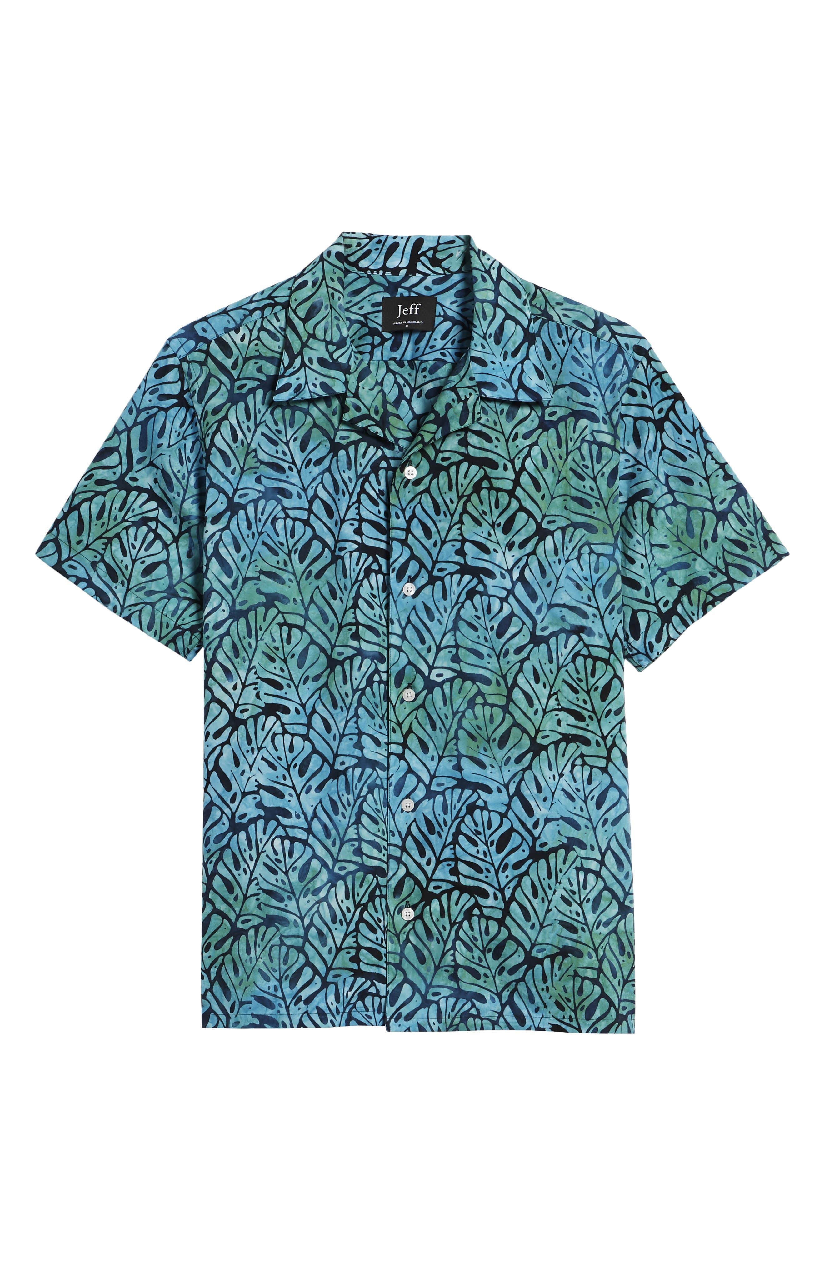 Oahu Trim Fit Sport Shirt,                             Alternate thumbnail 6, color,