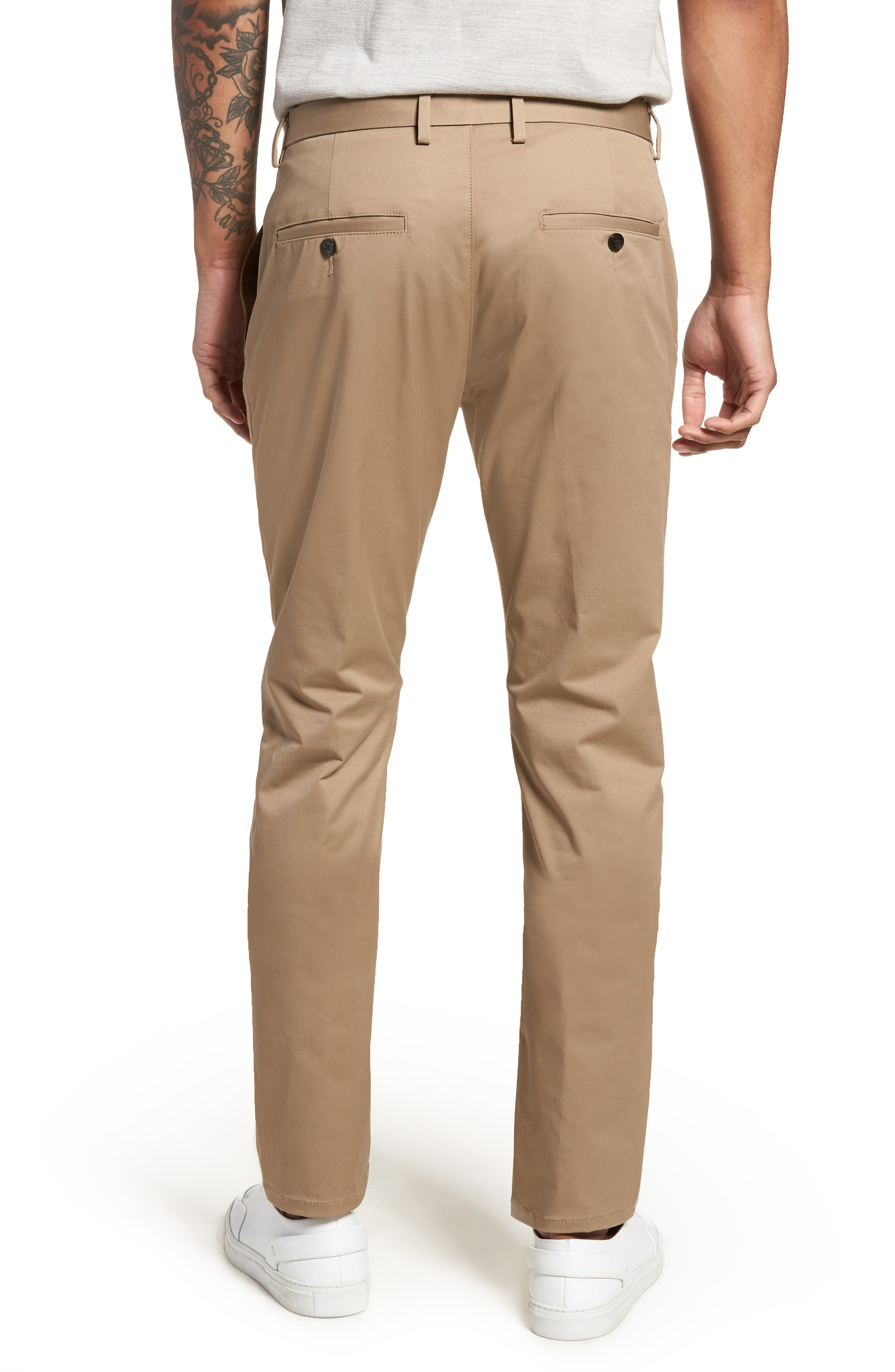 Helgo Flat Front Stretch Pants,                             Alternate thumbnail 2, color,                             265