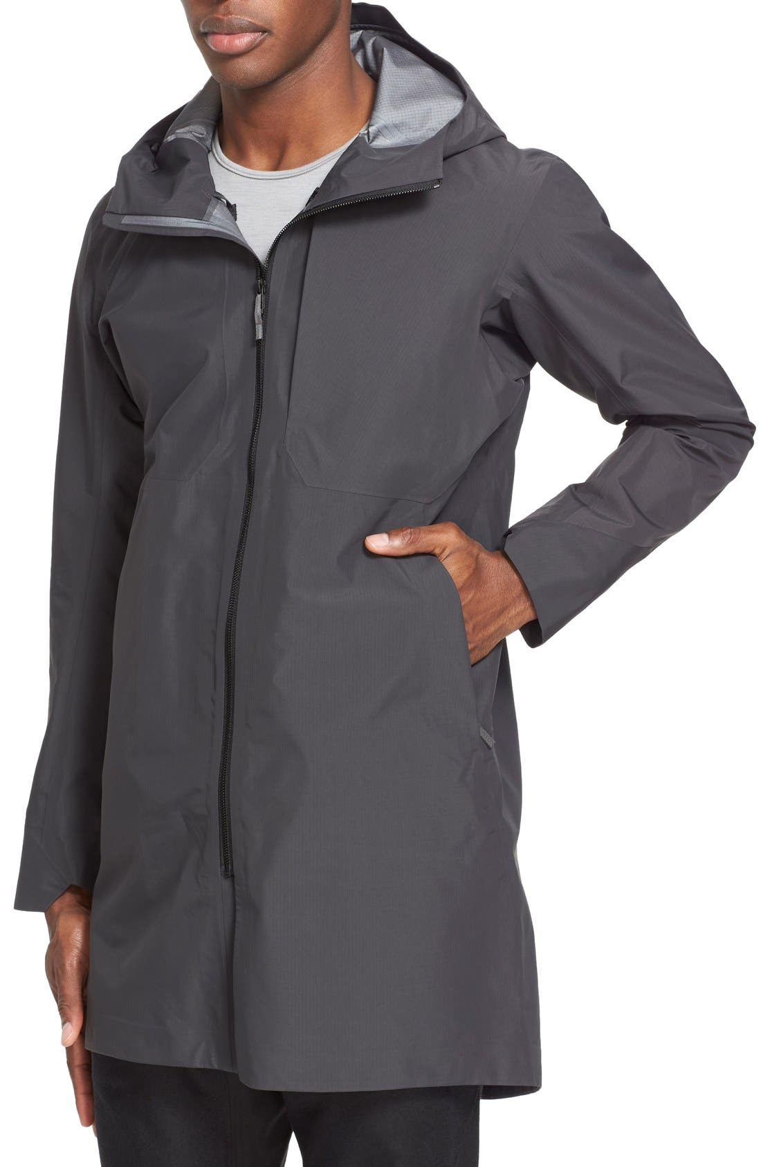 'Monitor' Gore-Tex<sup>®</sup> Pro Packable Hooded Jacket,                             Alternate thumbnail 6, color,                             020