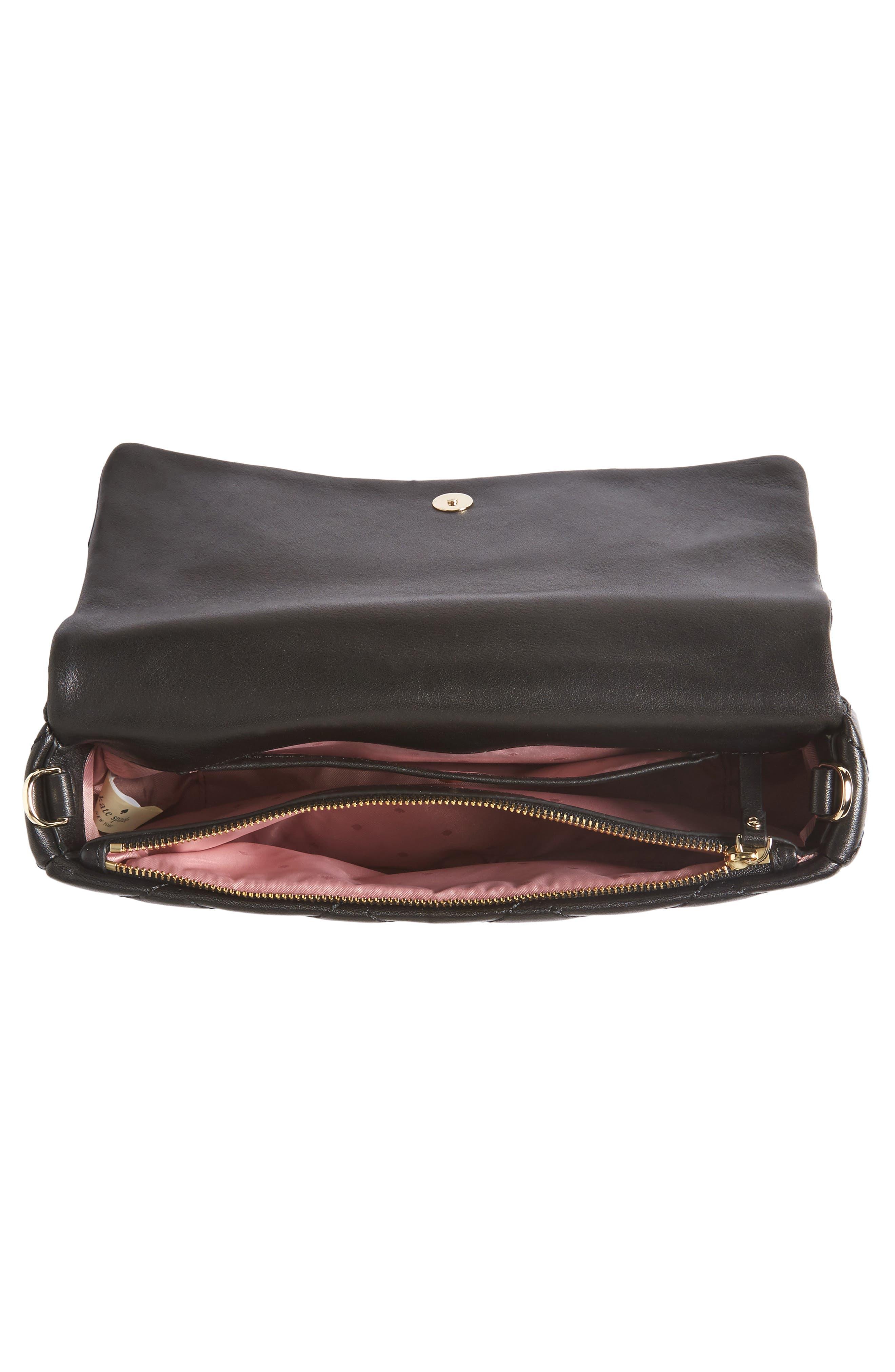 emerson place - serena leather shoulder bag,                             Alternate thumbnail 4, color,                             001