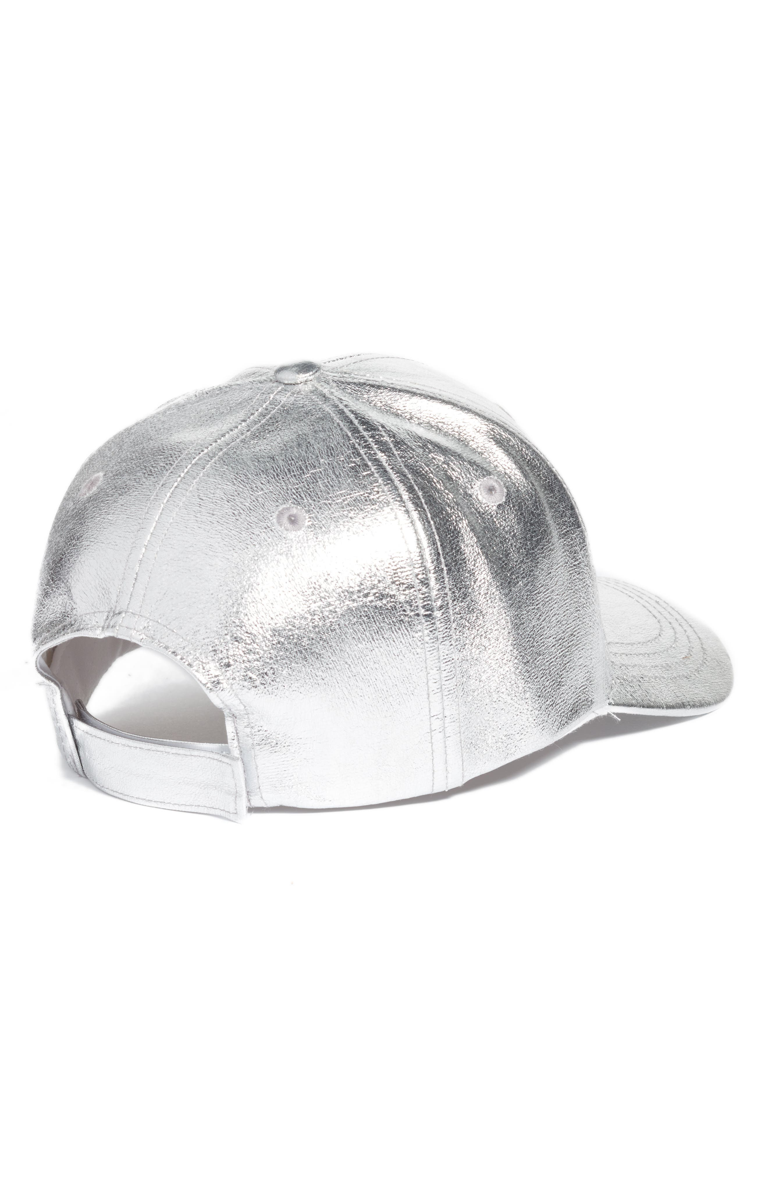 Crackled Metallic Baseball Cap,                             Alternate thumbnail 4, color,