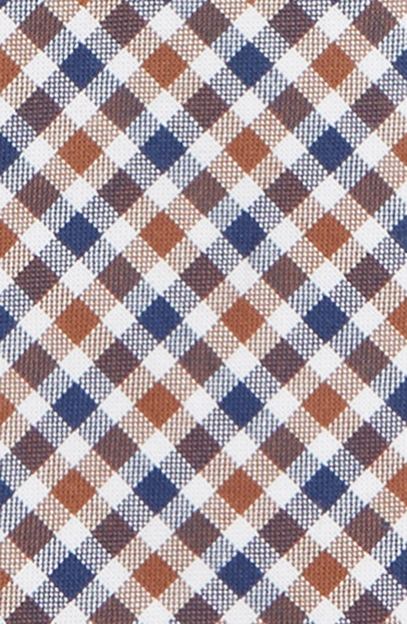 Plaid Cotton Zip Tie,                             Alternate thumbnail 2, color,                             TAUPE