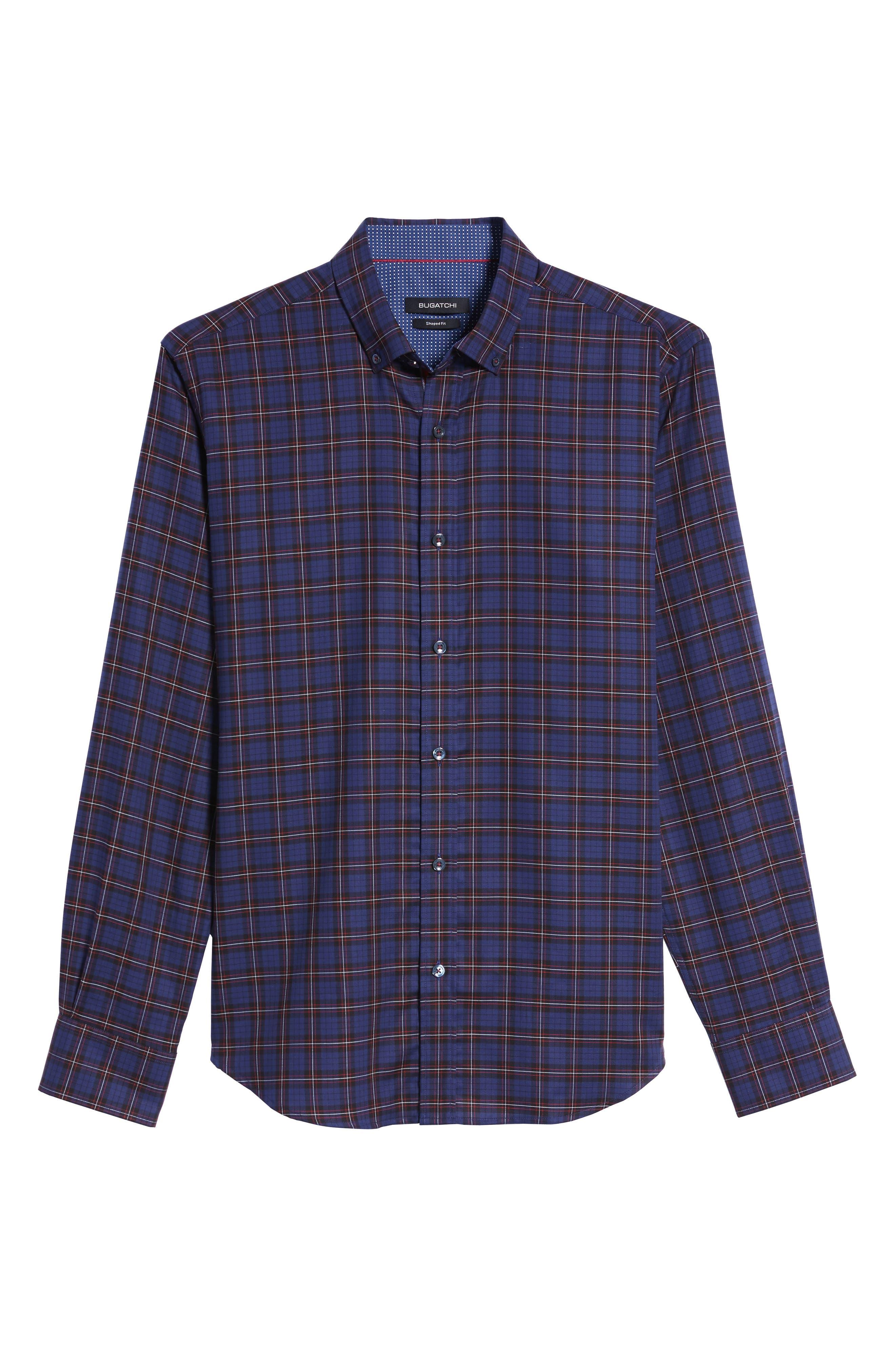 Trim Fit Box Check Sport Shirt,                             Alternate thumbnail 6, color,                             410