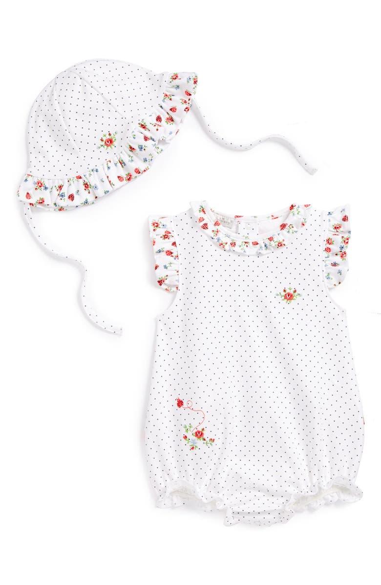 Kissy Kissy  Ladybug Garden  Bubble Romper   Sun Hat (Baby Girls ... dd9248cde852