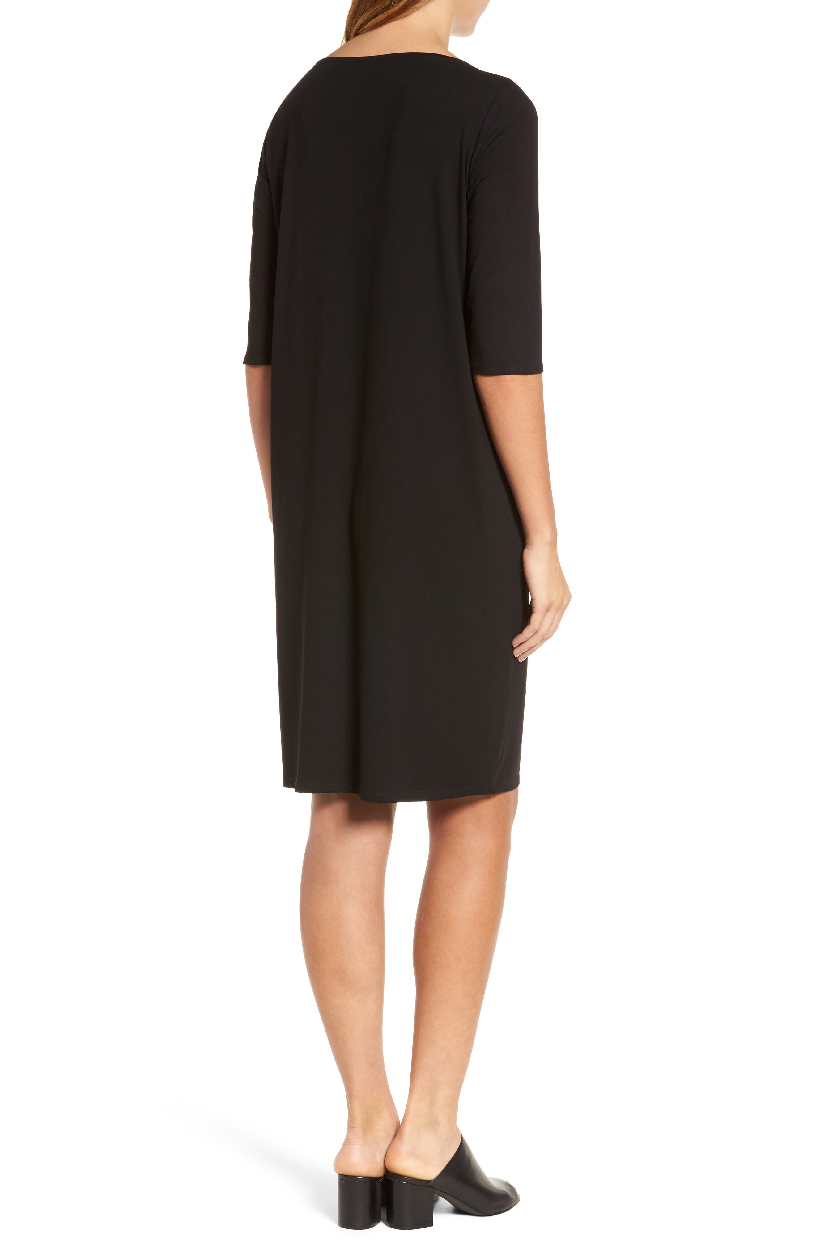 Jersey Shift Dress,                             Alternate thumbnail 4, color,
